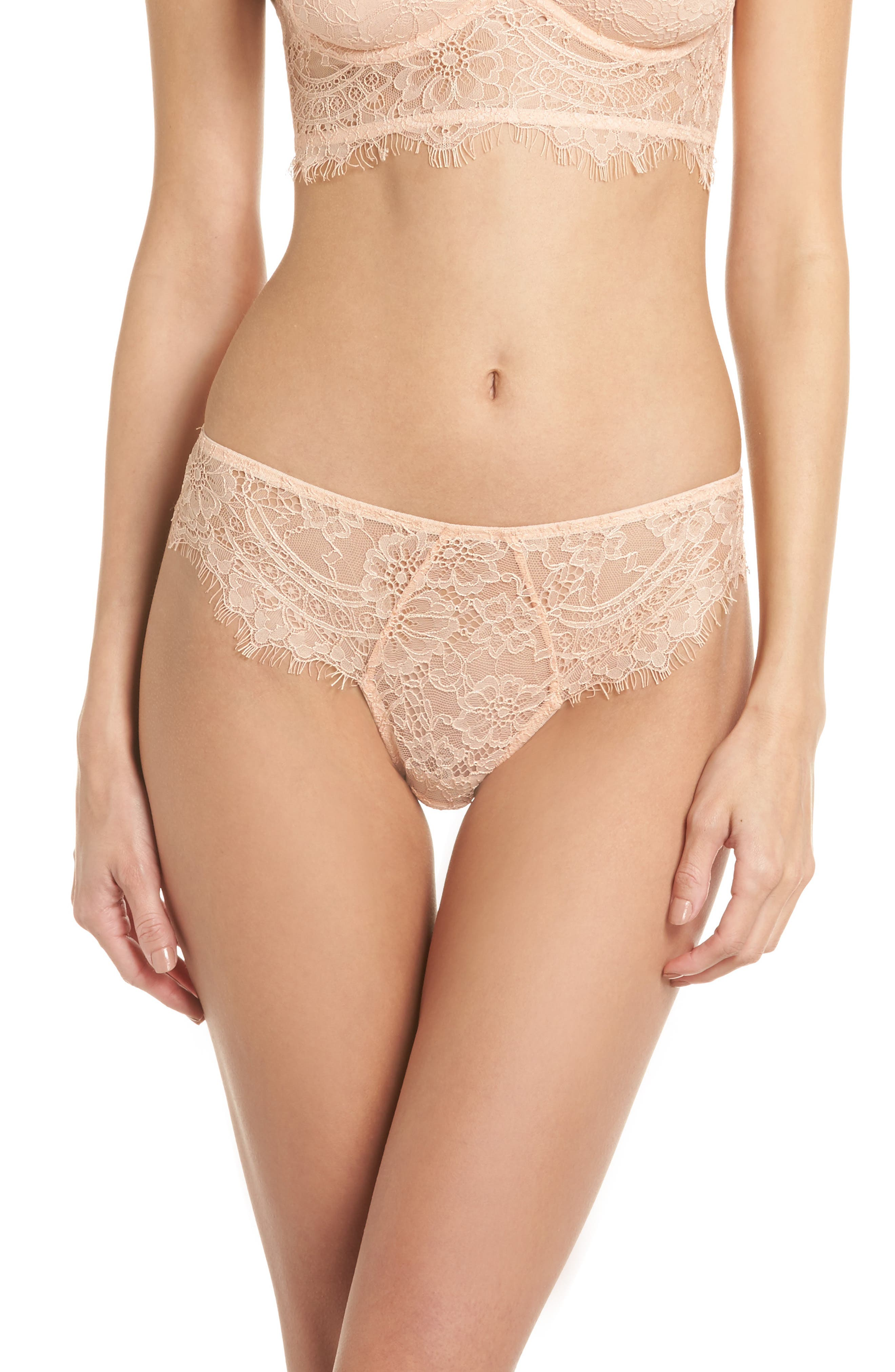 Thistle & Spire Graham Lace Bikini,                             Main thumbnail 1, color,                             Blush
