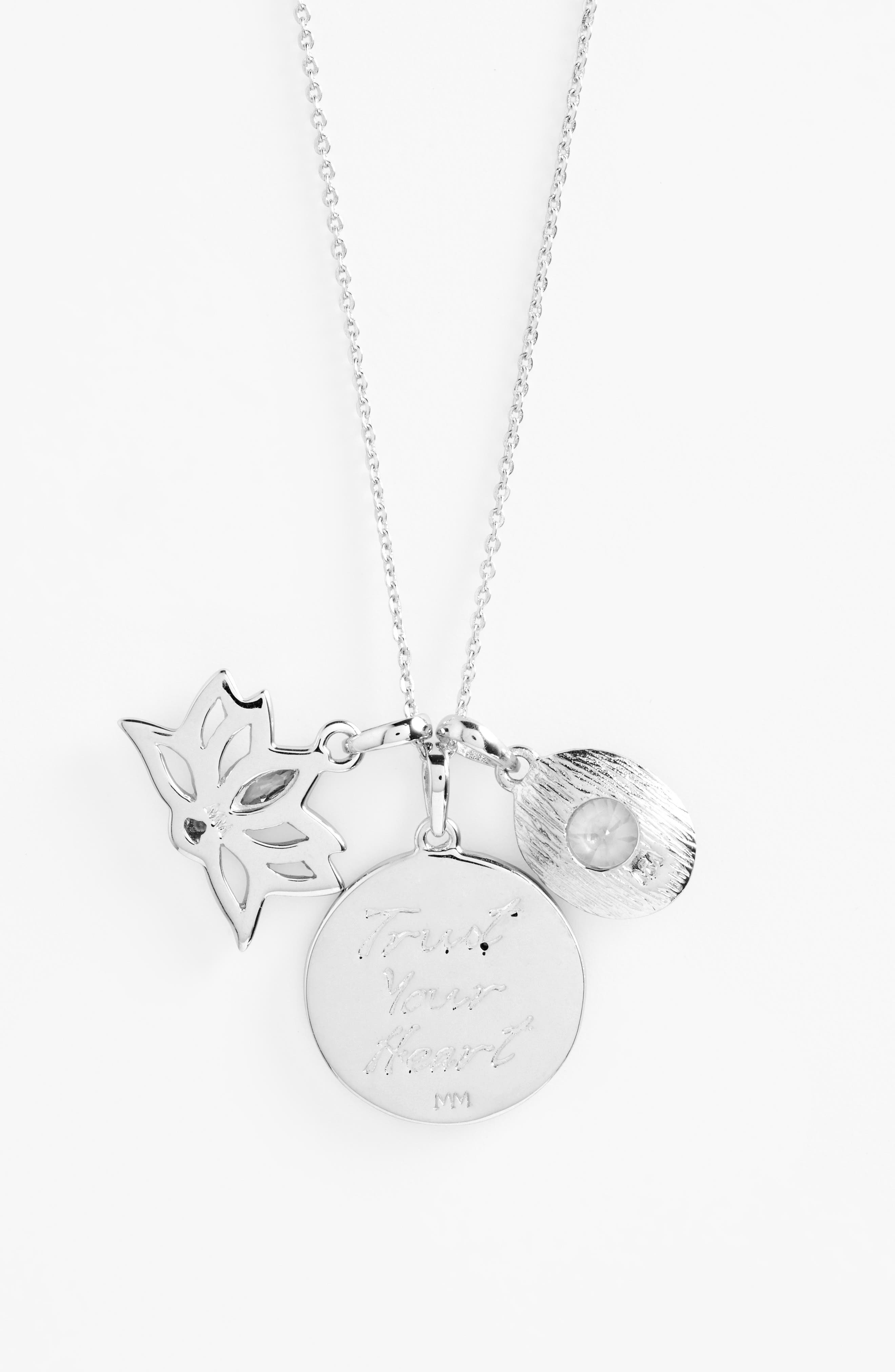 Goddess of Love Pendant Necklace,                         Main,                         color, White Cz/ Silver