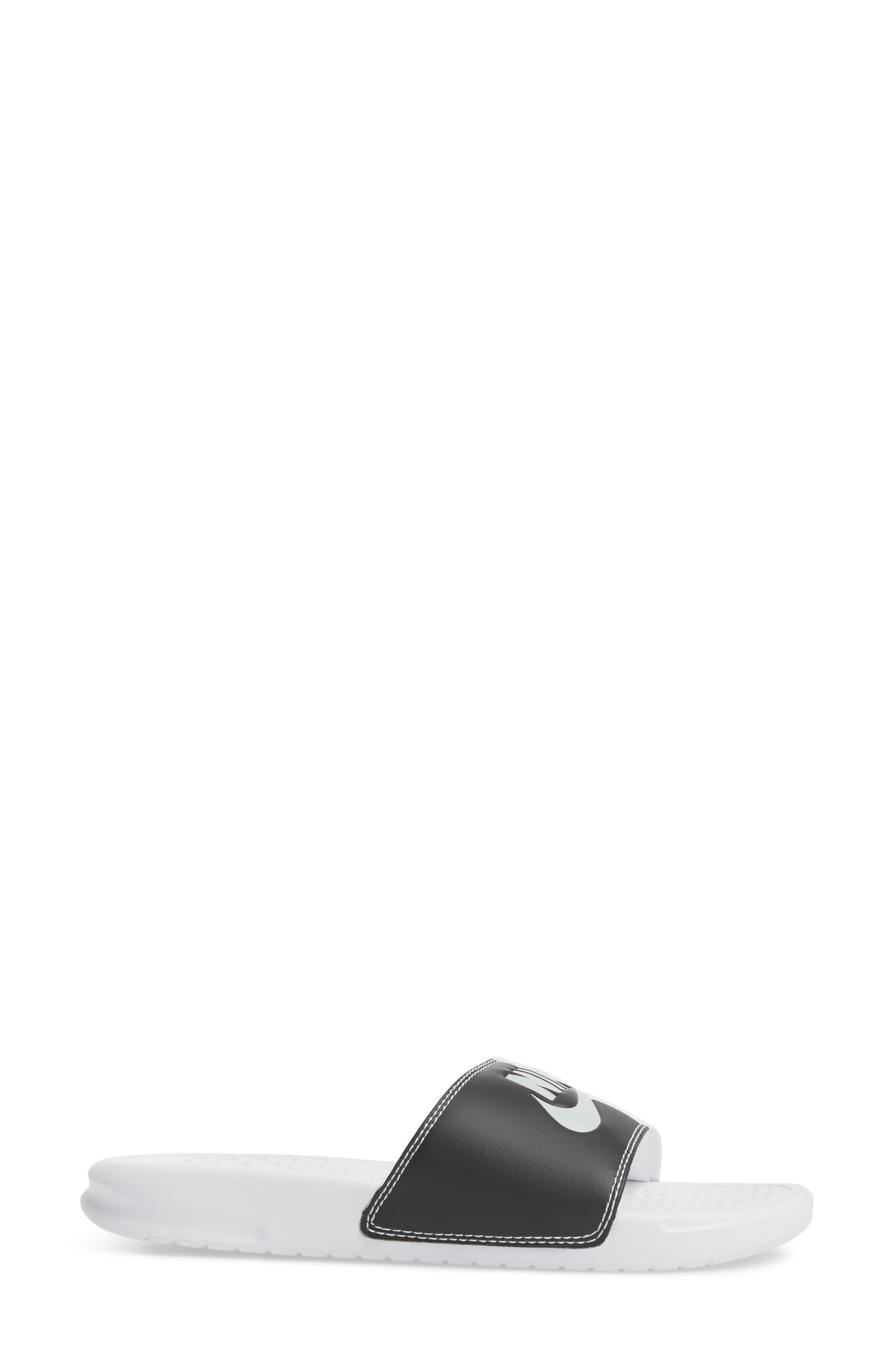 Benassi JDI Slide Sandal,                             Alternate thumbnail 3, color,                             White/ Pure Platinum