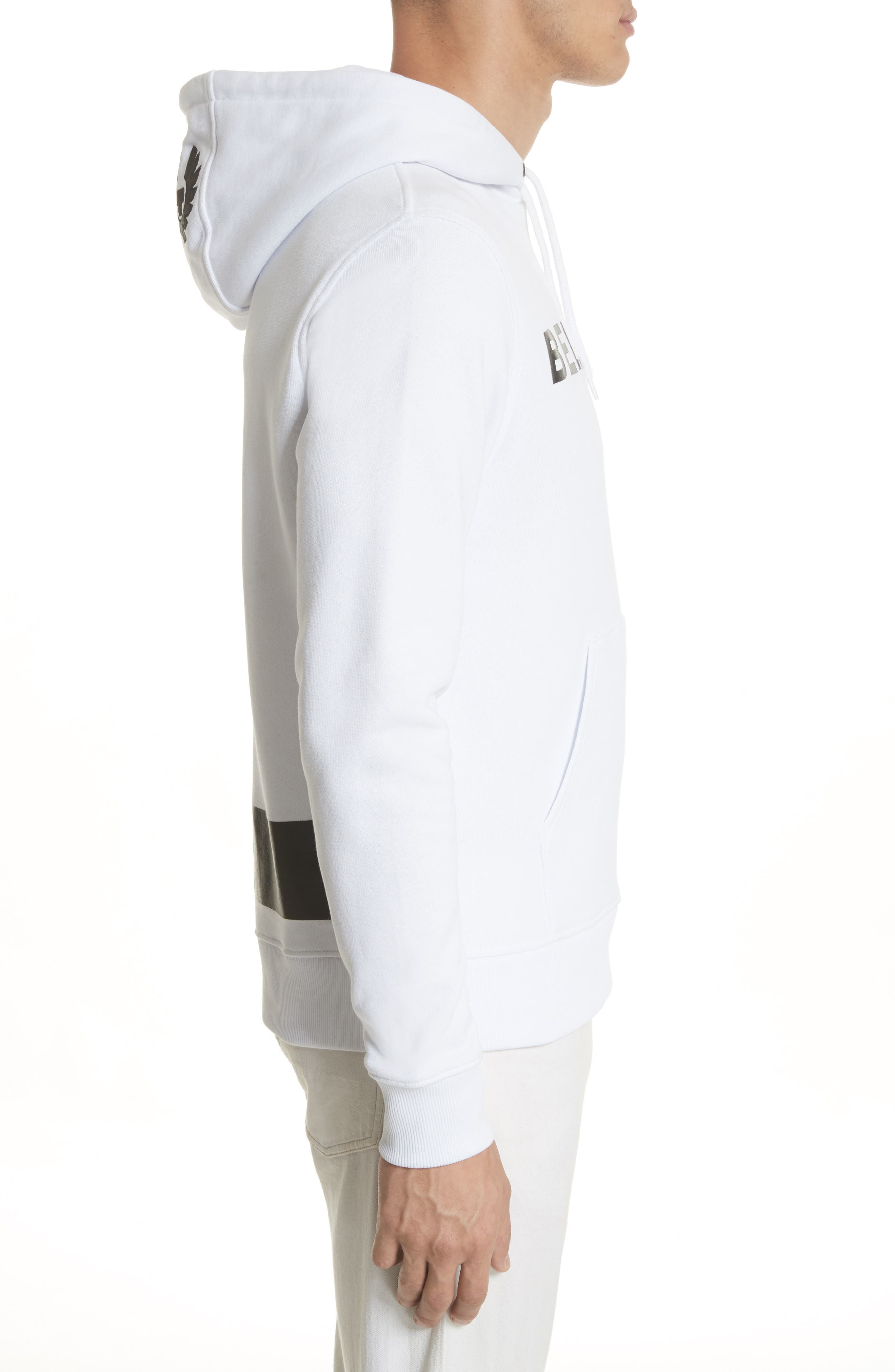 Marfield BXS Graphic Hoodie,                             Alternate thumbnail 3, color,                             White