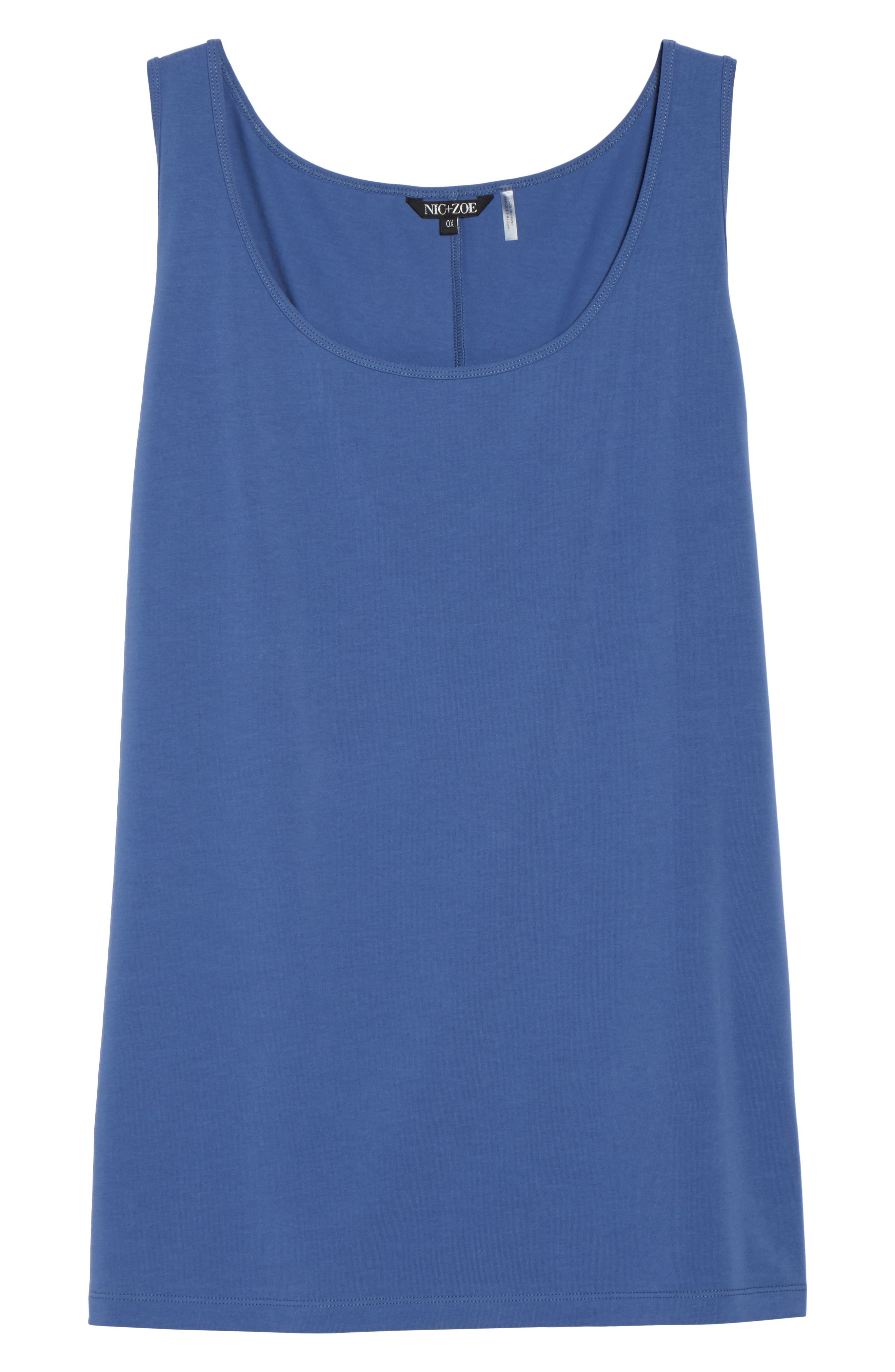 Perfect Scoop Tank,                             Alternate thumbnail 3, color,                             Mosaic Blue