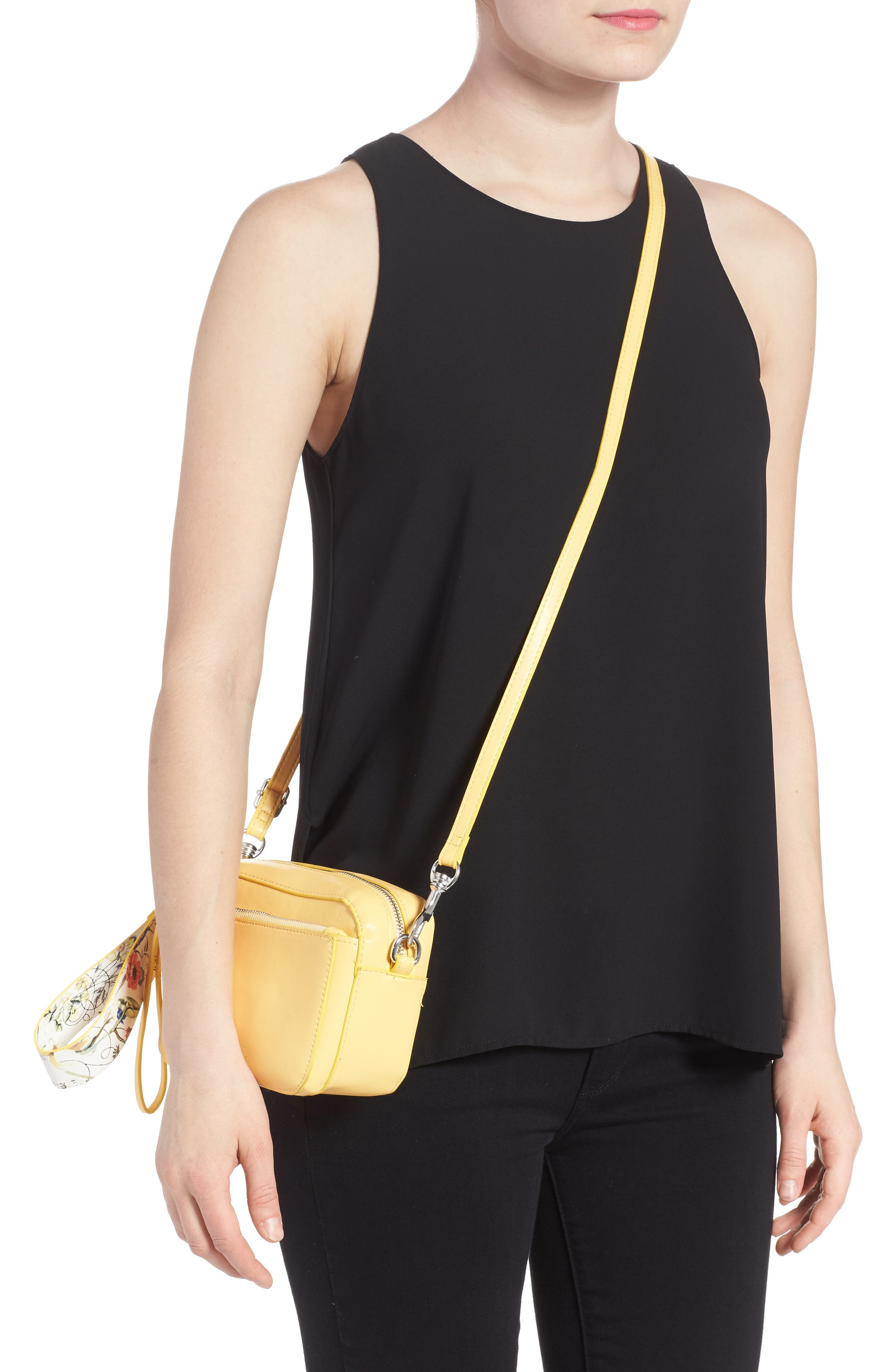 Alternate Image 2  - BP. Faux Leather Crossbody Wristlet
