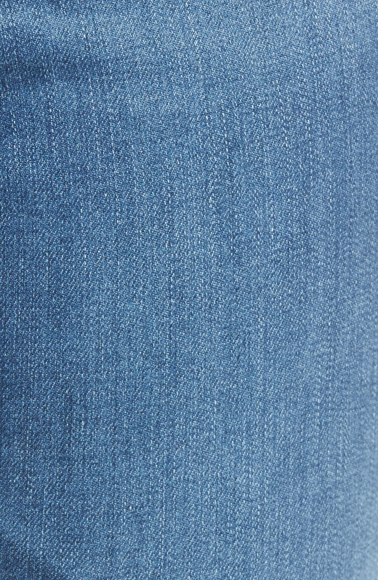 Mila High Waist Ankle Skinny Jeans,                             Alternate thumbnail 6, color,                             Indigo Viking