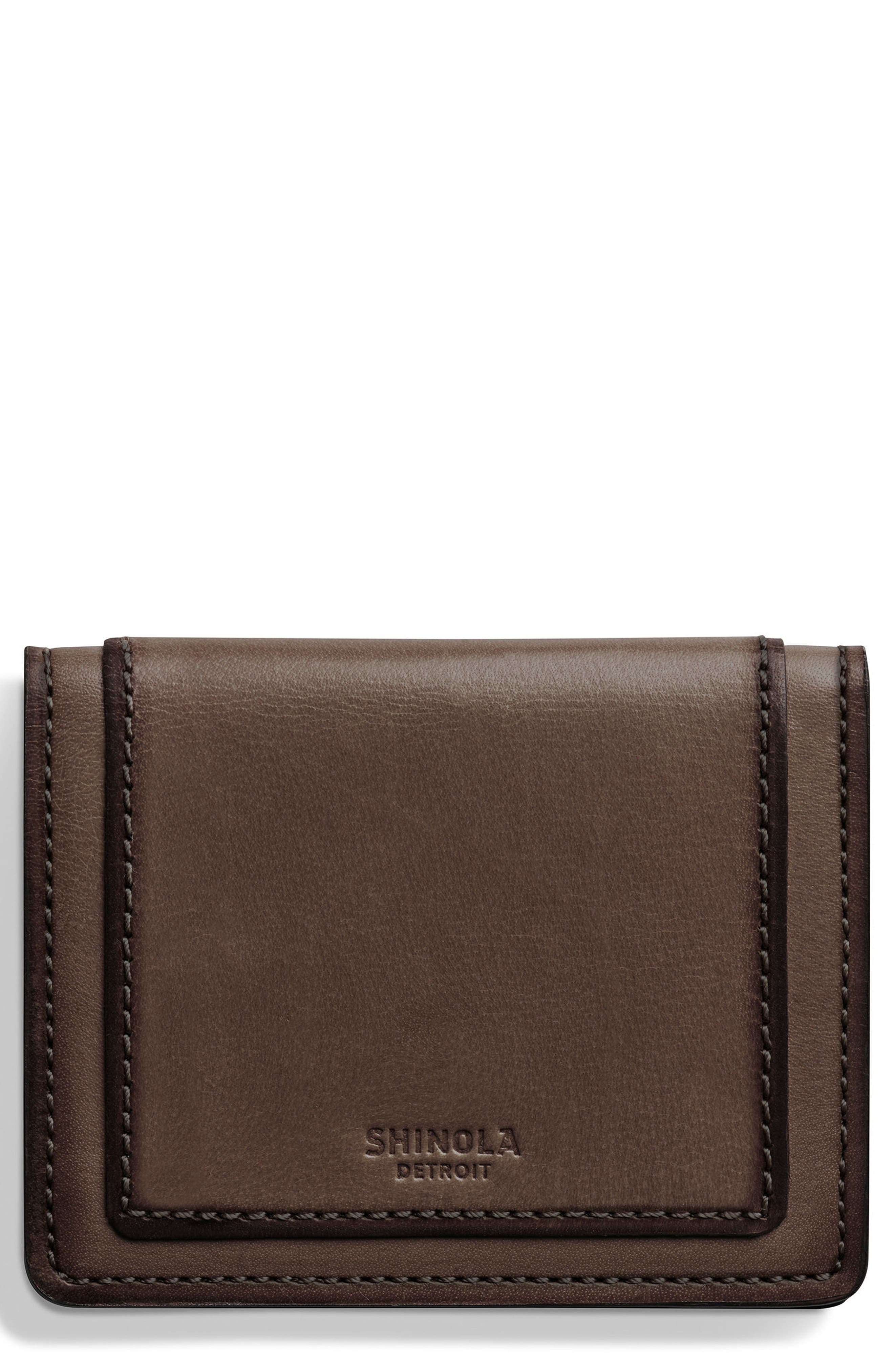 Outlaw Folding Card Case,                         Main,                         color, Deep Brown