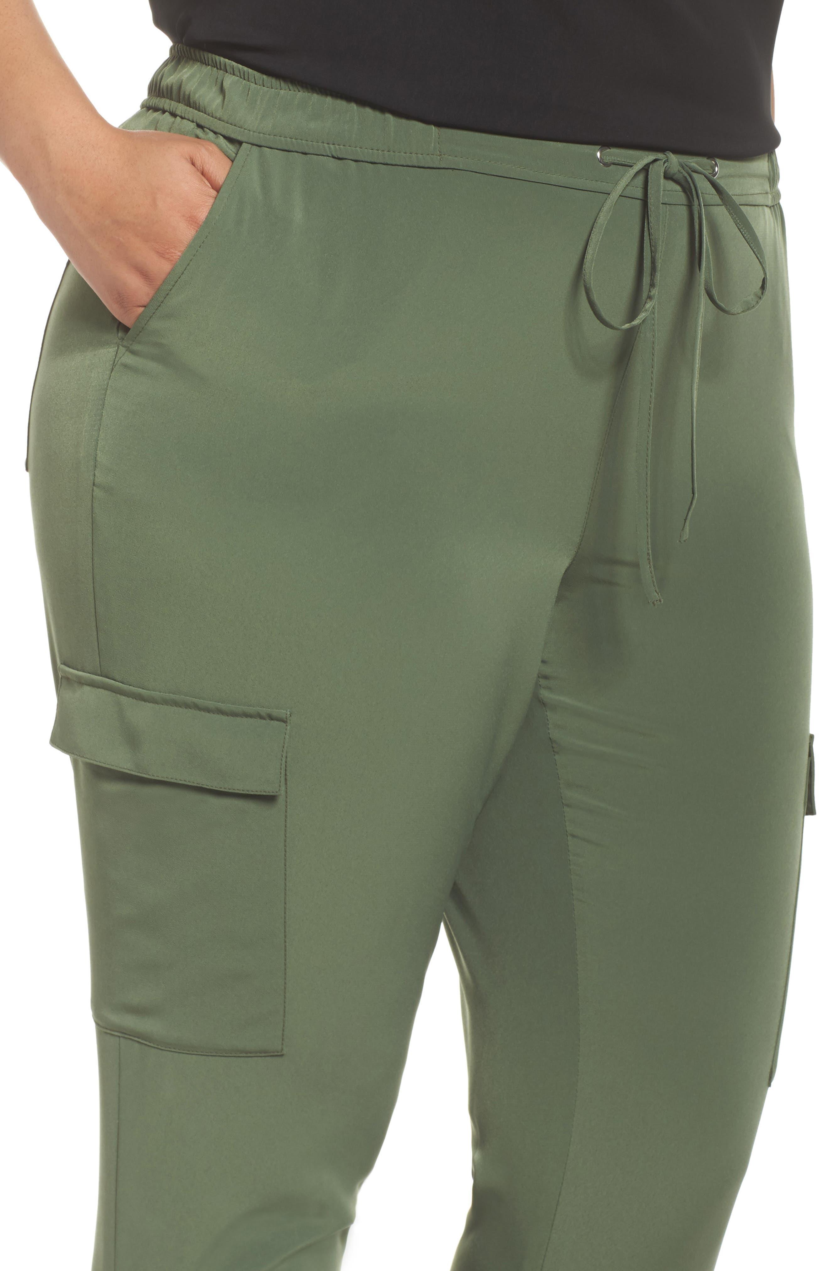 Zip Ankle Jogger Pants,                             Alternate thumbnail 4, color,                             Green Bronze