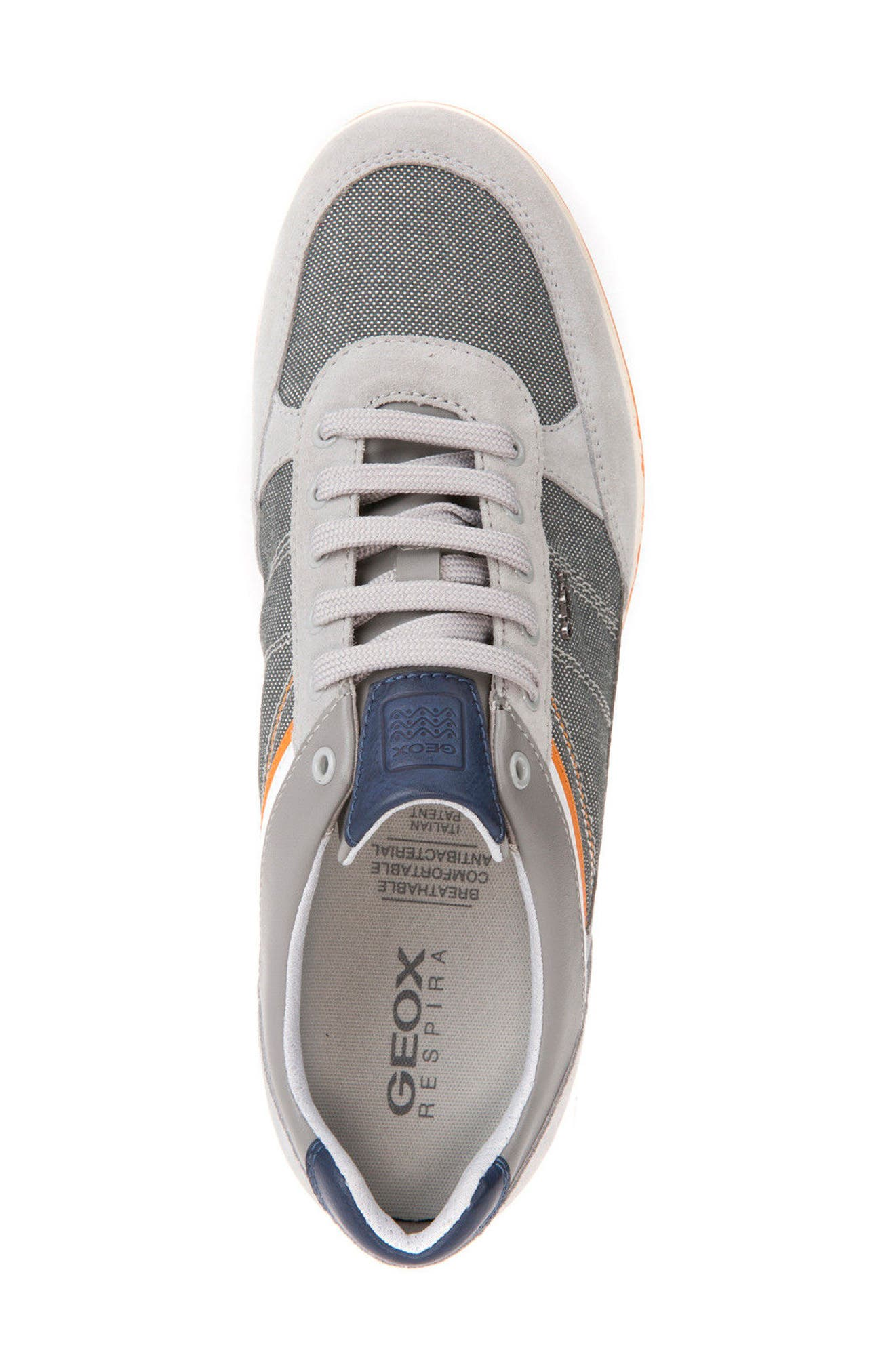 Renan 1 Low Top Sneaker,                             Alternate thumbnail 5, color,                             Light Grey/ Stone