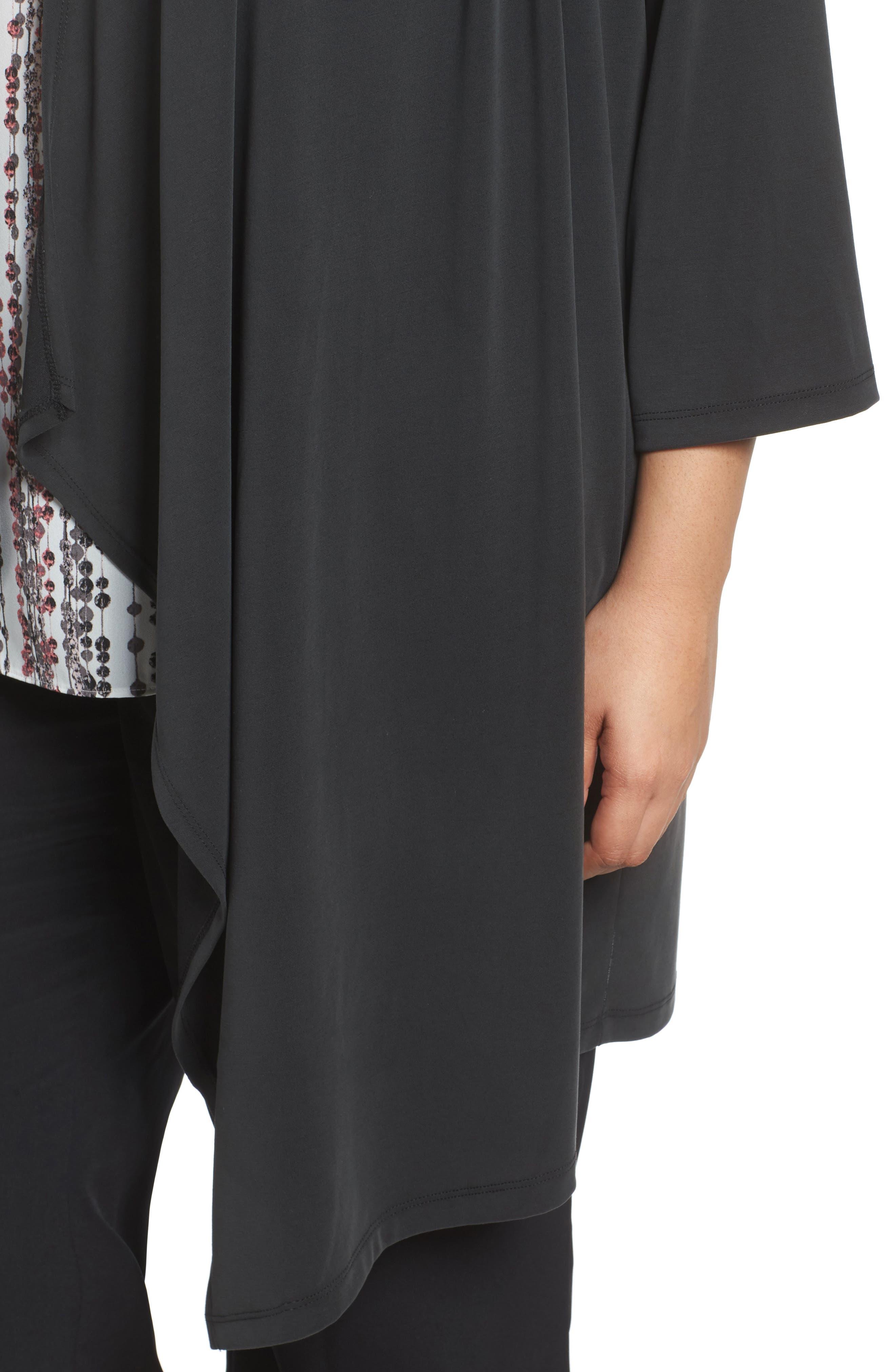 Kimono Cardigan,                             Alternate thumbnail 4, color,                             Black