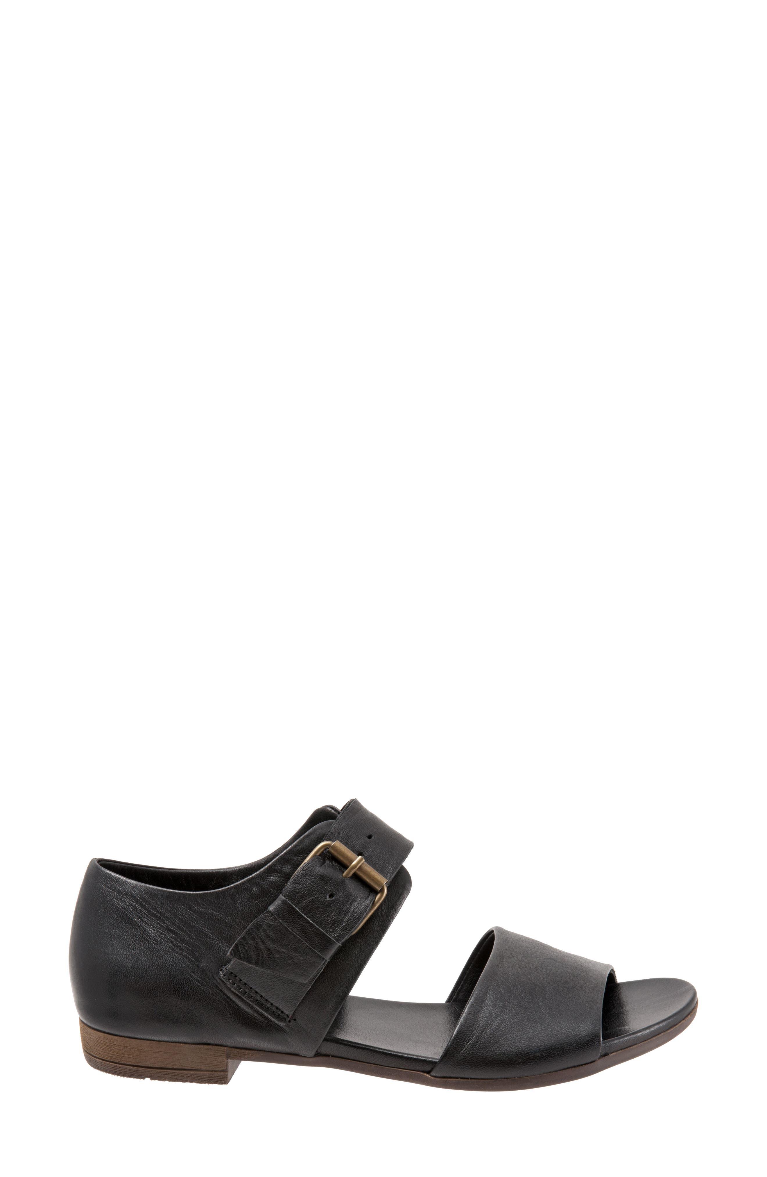 Talia Sandal,                             Alternate thumbnail 3, color,                             Black Leather