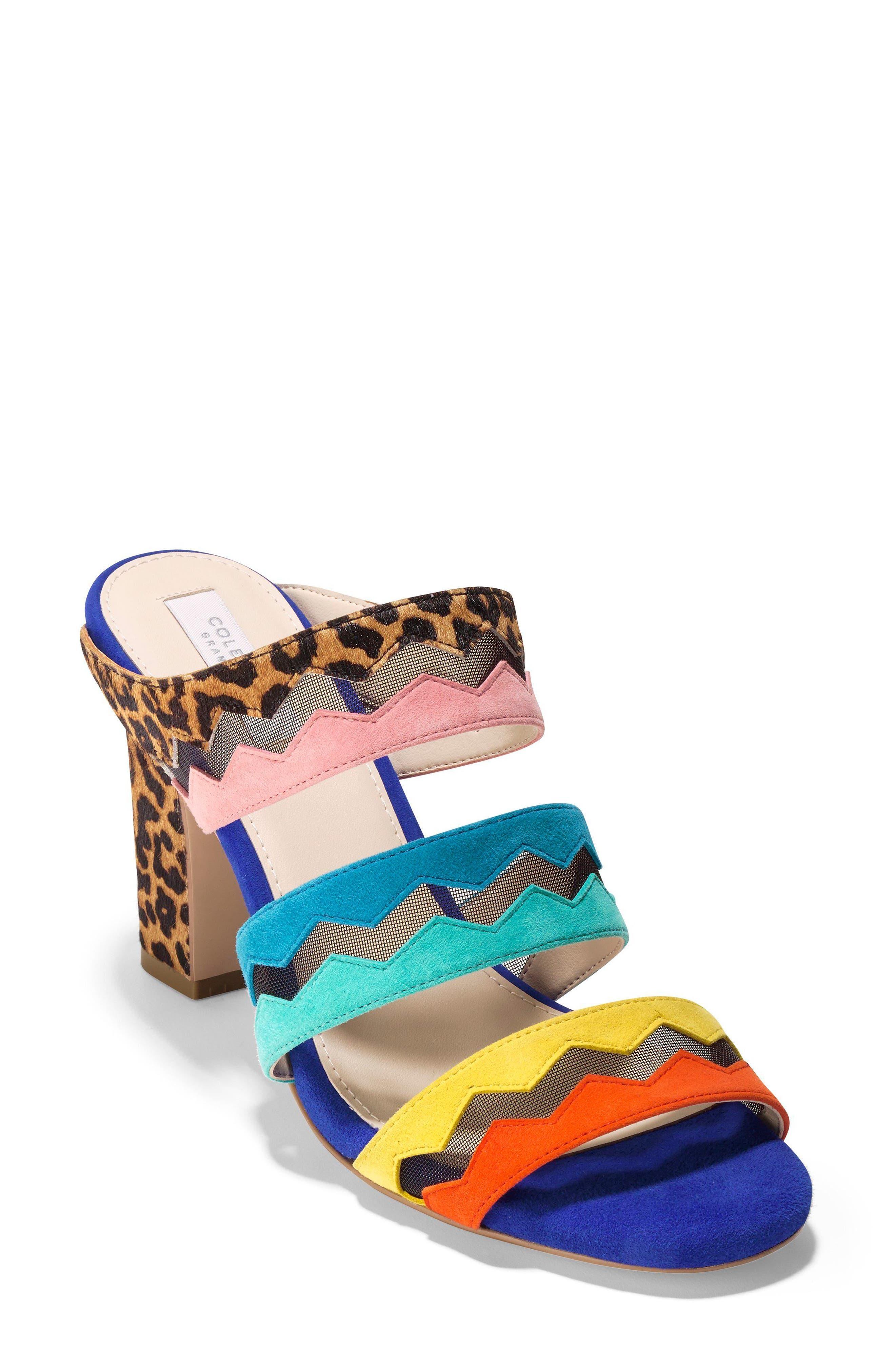 Emilia Sandal,                         Main,                         color, Ocelot Print Calf Hair