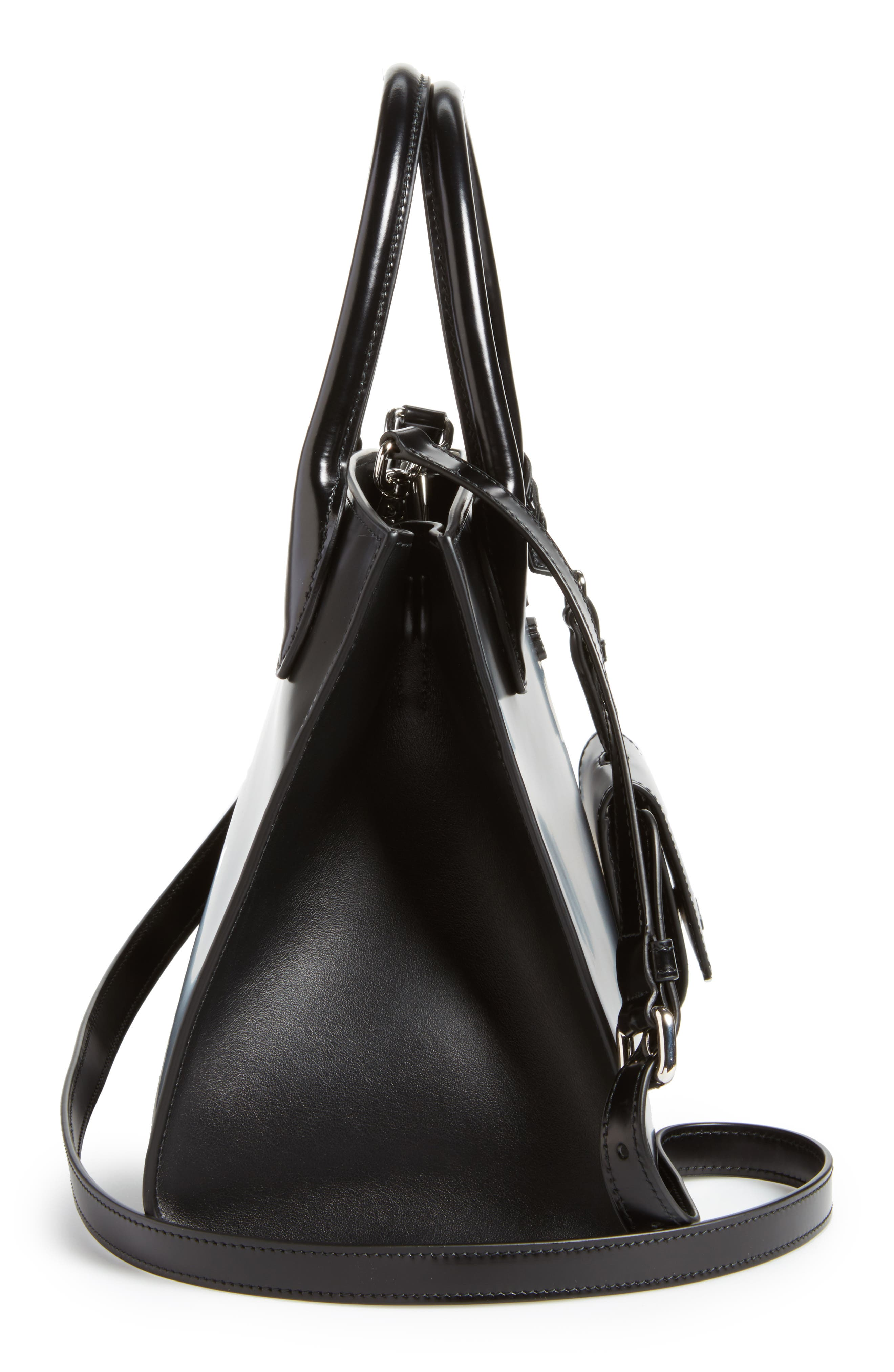 Alternate Image 5  - Prada Small Monochrome Spazzolato Tote