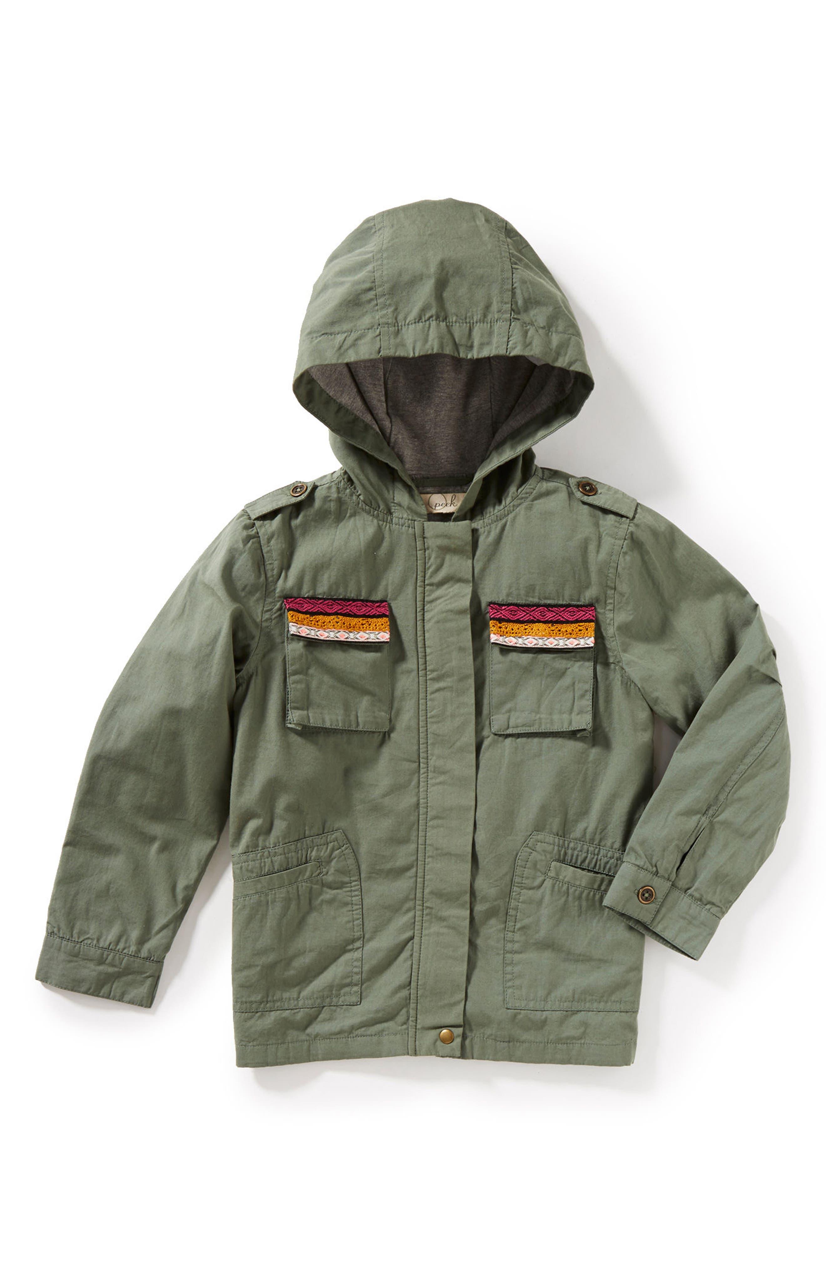 Main Image - Peek Roadtrip Hooded Jacket (Toddler Girls, Little Girls & Big Girls)