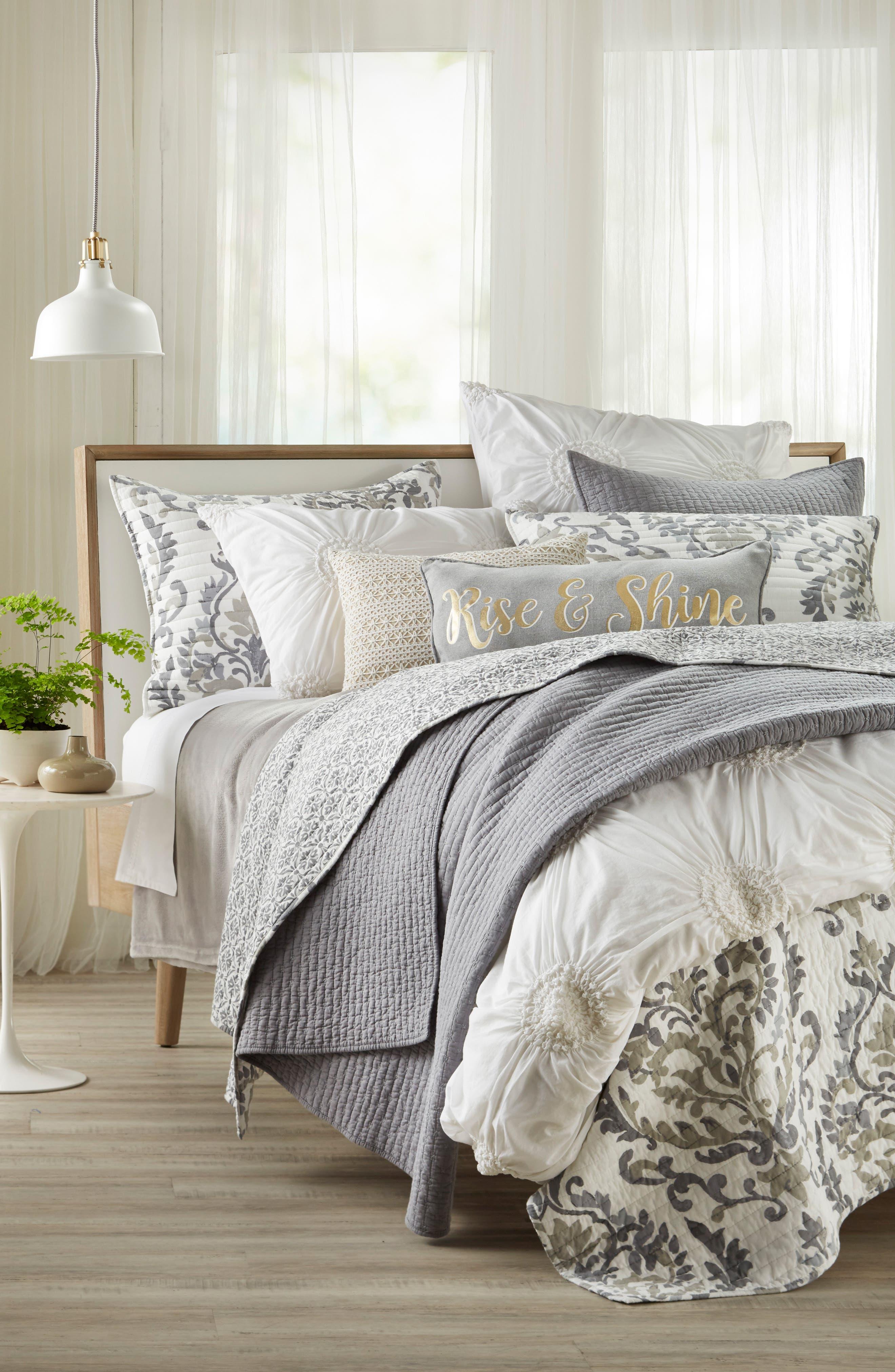 Arden Rise & Shine Accent Pillow,                             Alternate thumbnail 2, color,                             Grey