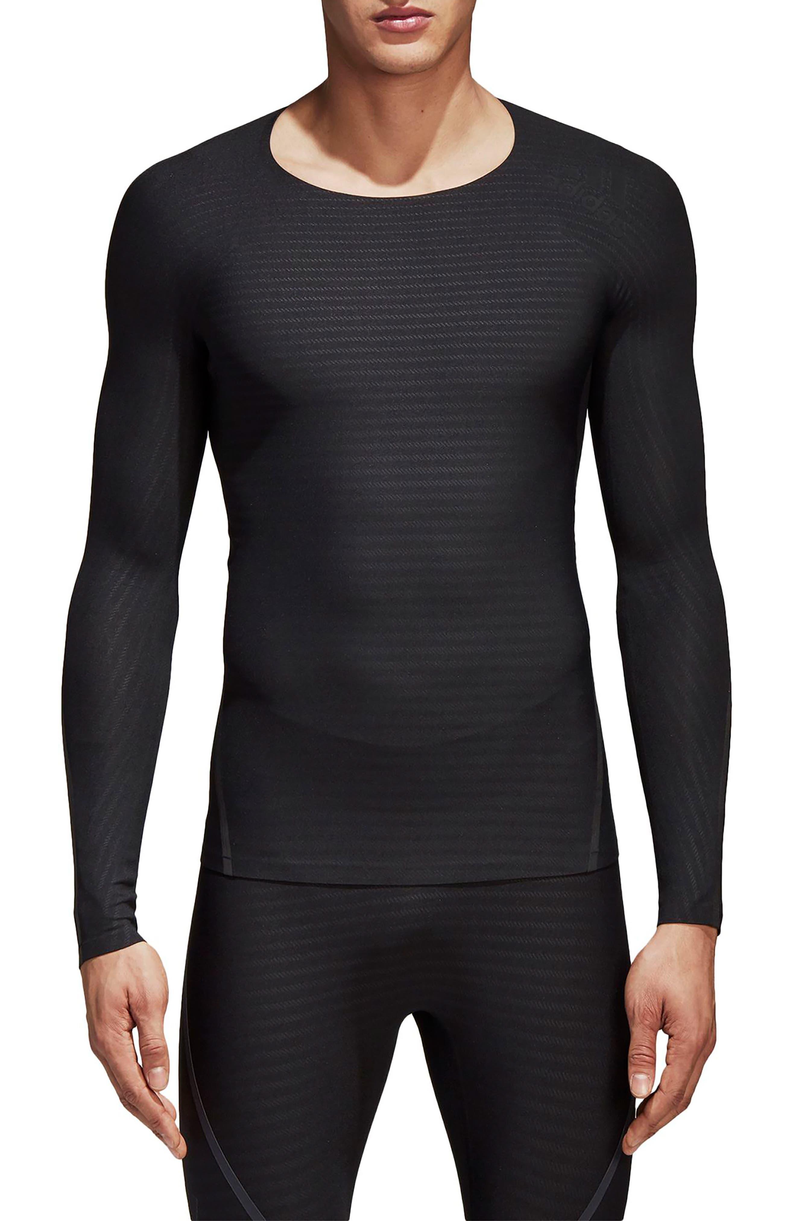 Alphaskin 360 Long Sleeve T-Shirt,                         Main,                         color, Black