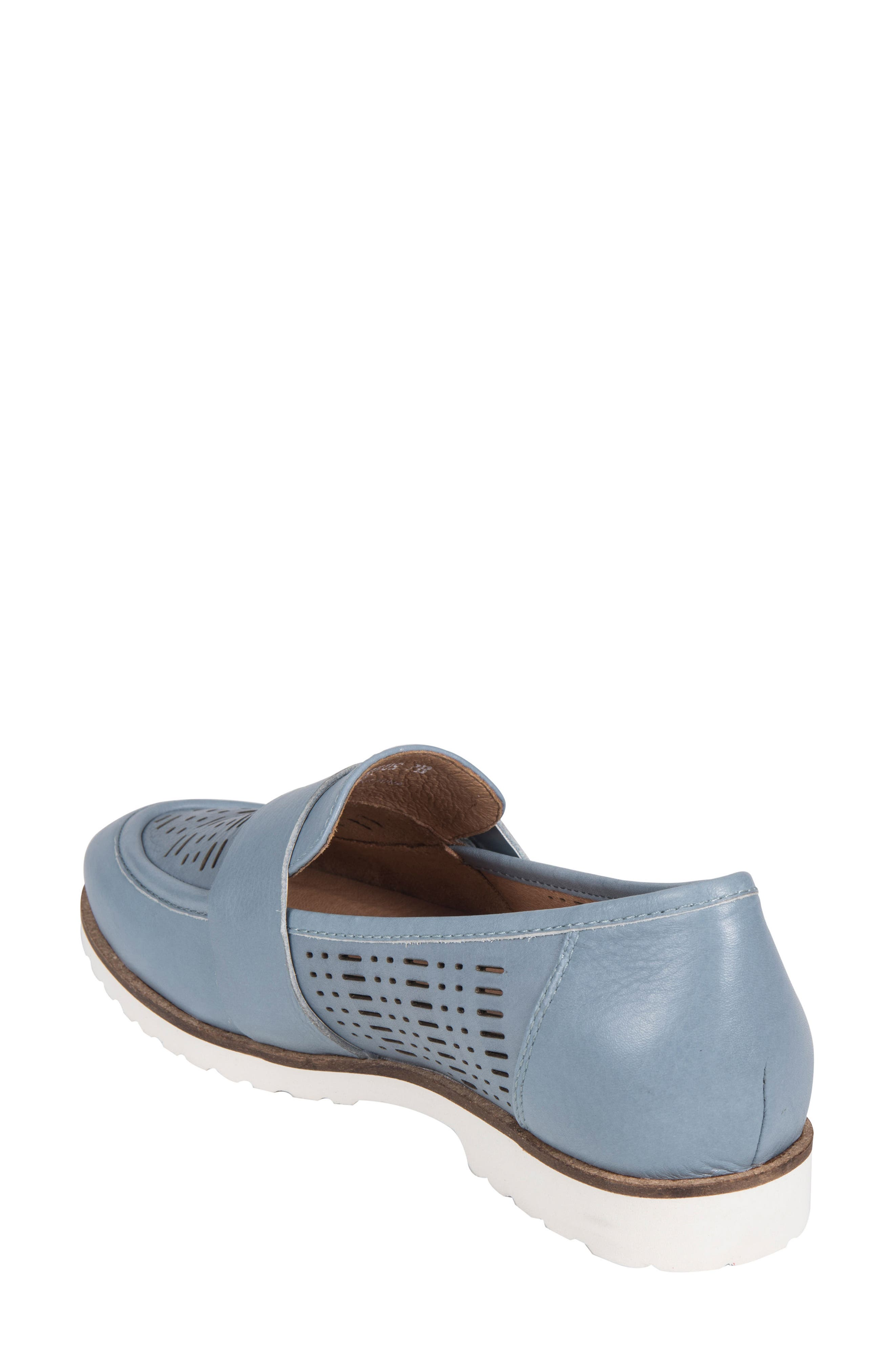 Masio Loafer,                             Alternate thumbnail 2, color,                             Blue Leather