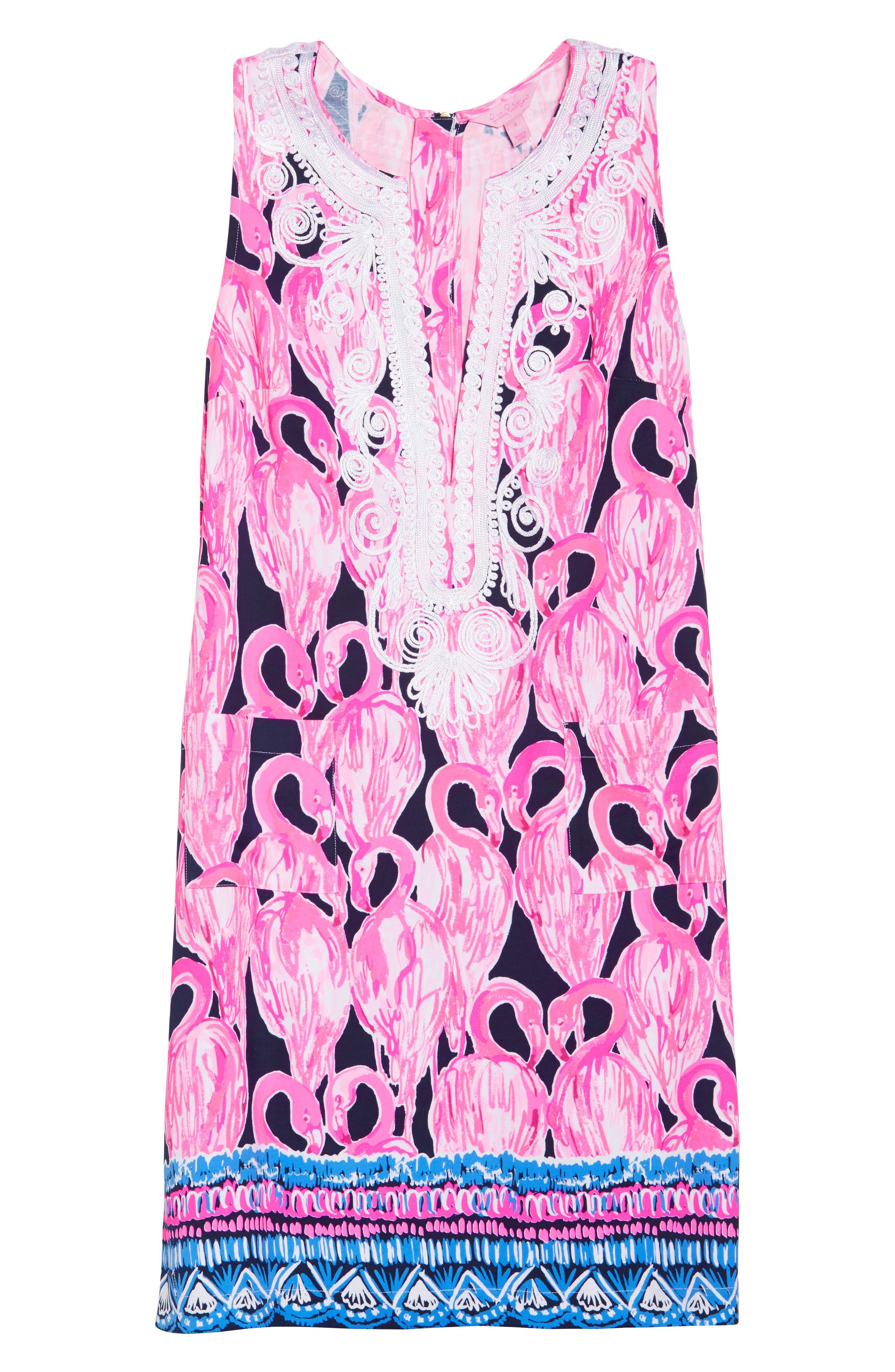 Carlotta Shift Dress,                             Alternate thumbnail 6, color,                             High Tide Via Amor