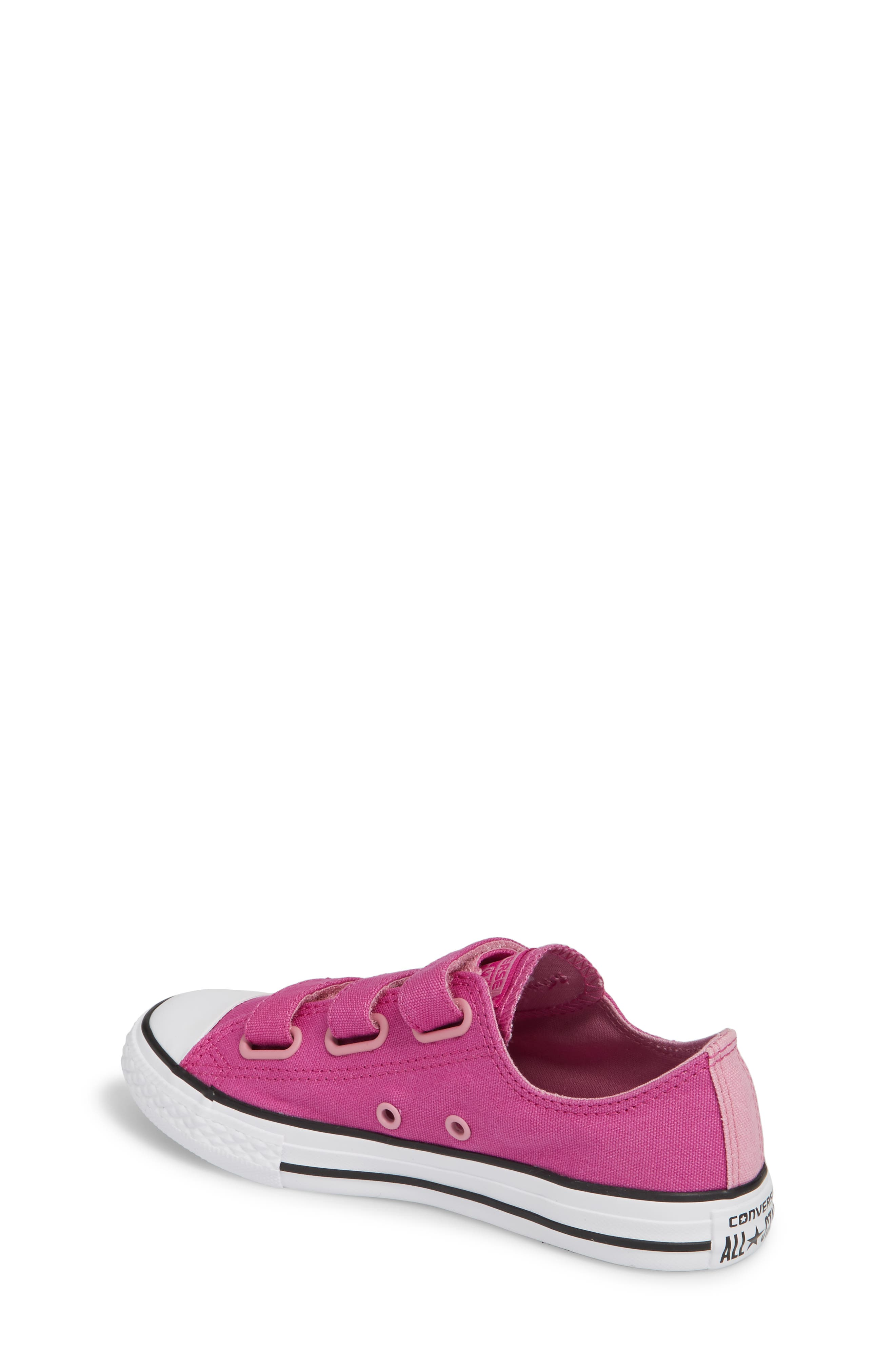 Chuck Taylor<sup>®</sup> All Star<sup>®</sup> 3V Low Top Sneaker,                             Alternate thumbnail 2, color,                             Hyper Magenta