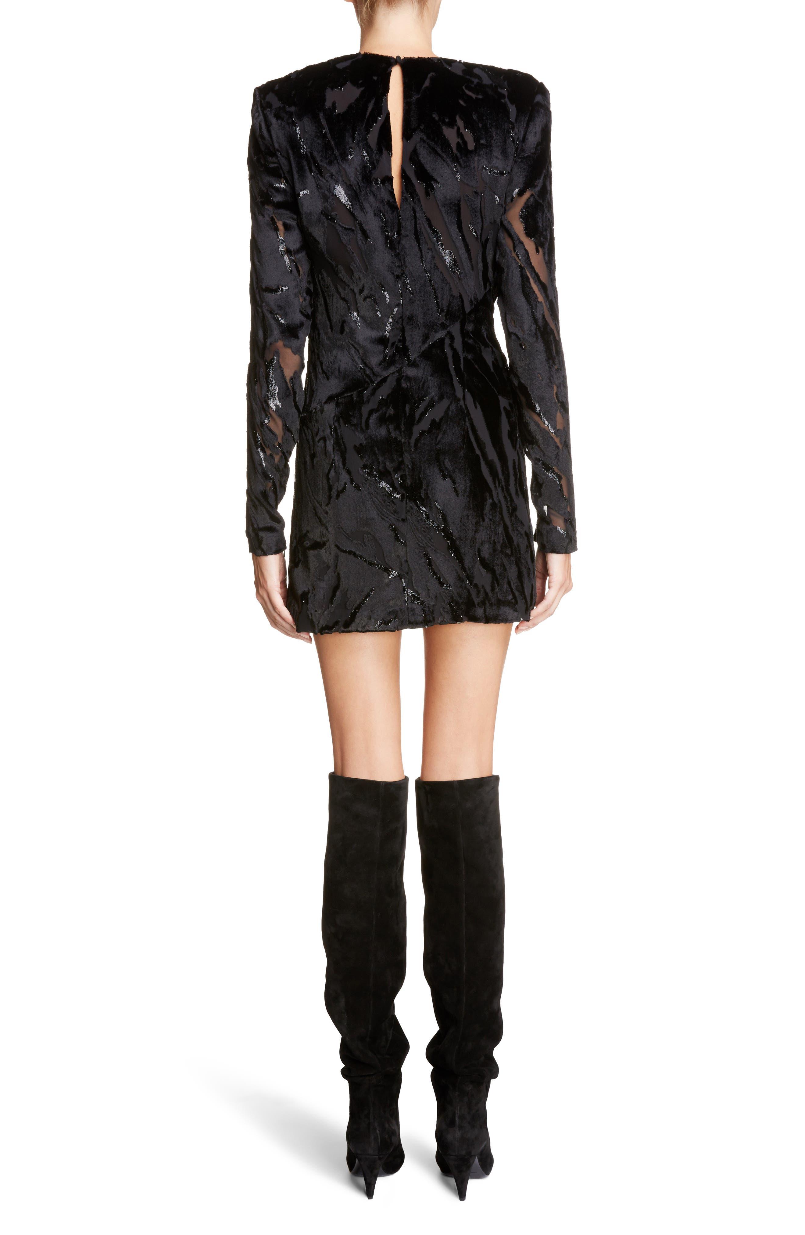 Alternate Image 2  - Saint Laurent Devoré Asymmetrical Waist Dress