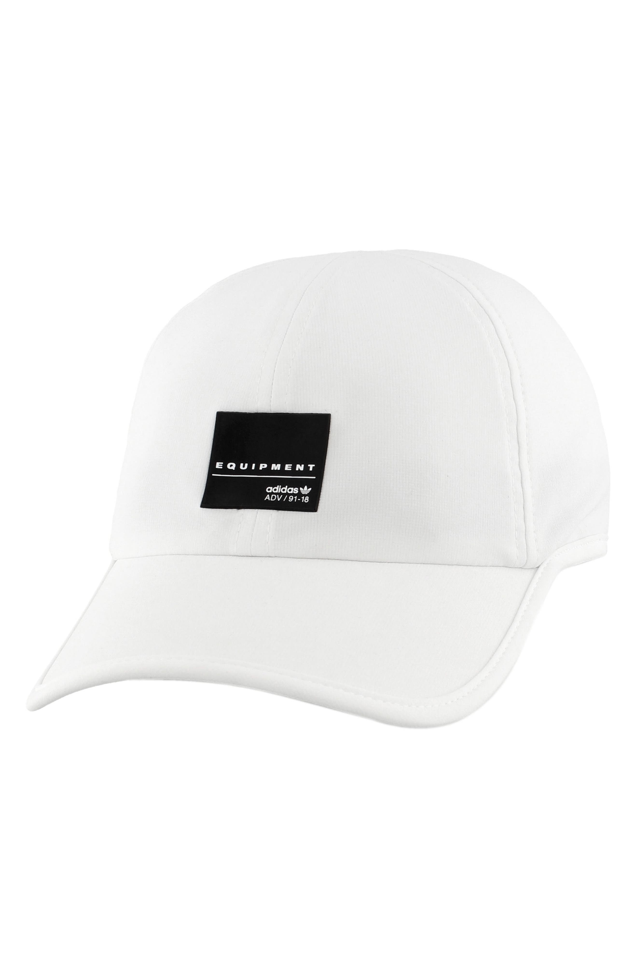 EQT Trainer Cap,                             Main thumbnail 1, color,                             White