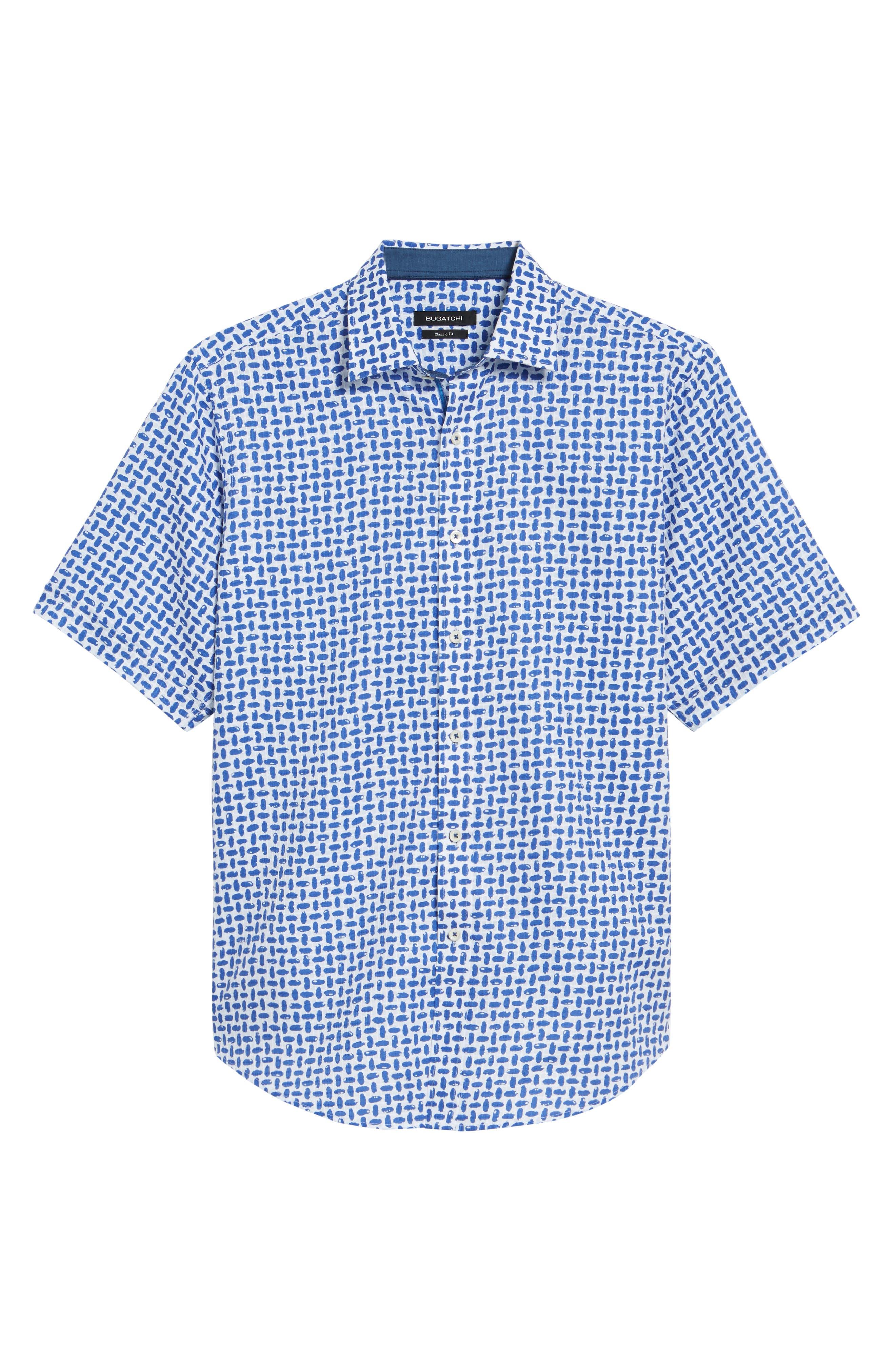 Classic Fit Woven Sport Shirt,                             Alternate thumbnail 6, color,                             Royal