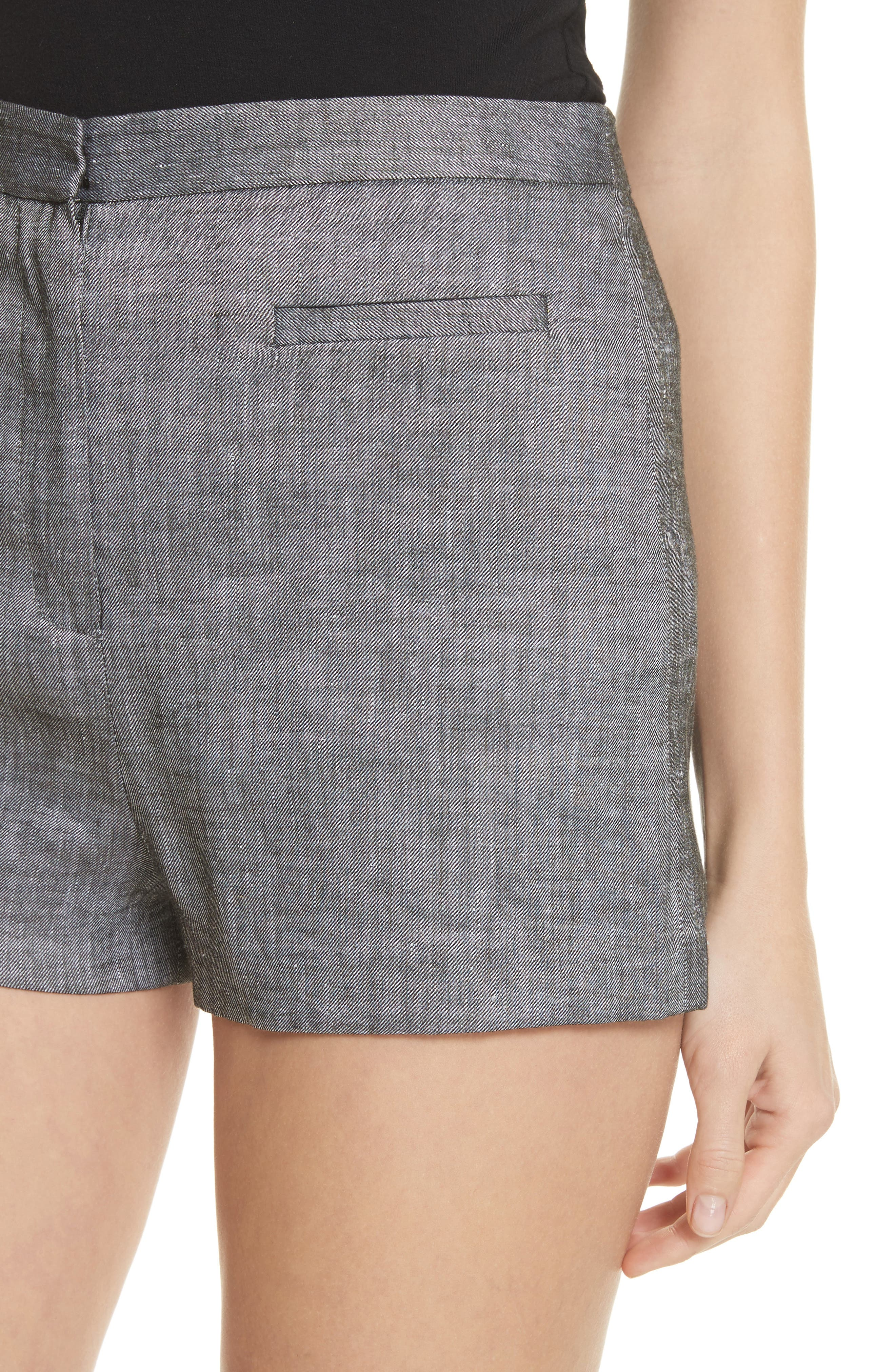 Trudee High Waist Shorts,                             Alternate thumbnail 4, color,                             Olive