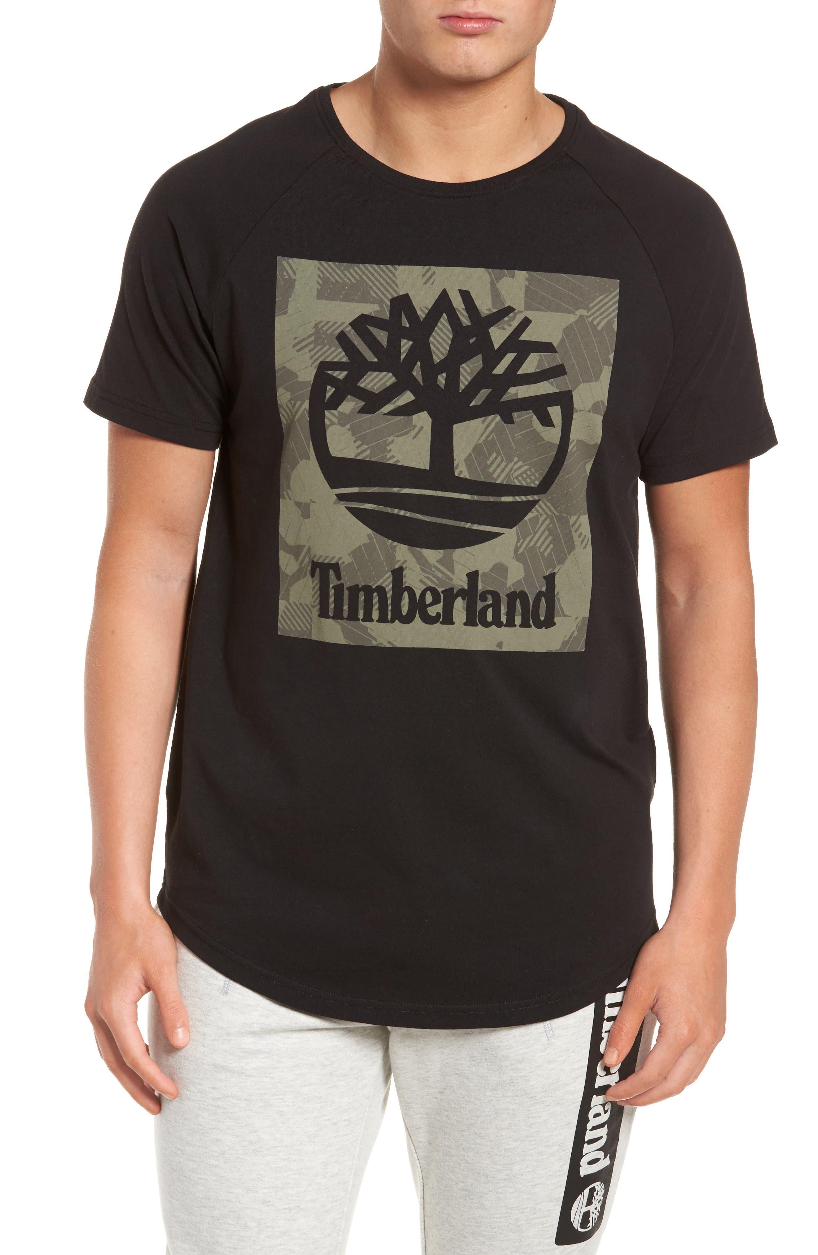 Camo Logo T-Shirt,                         Main,                         color, Black