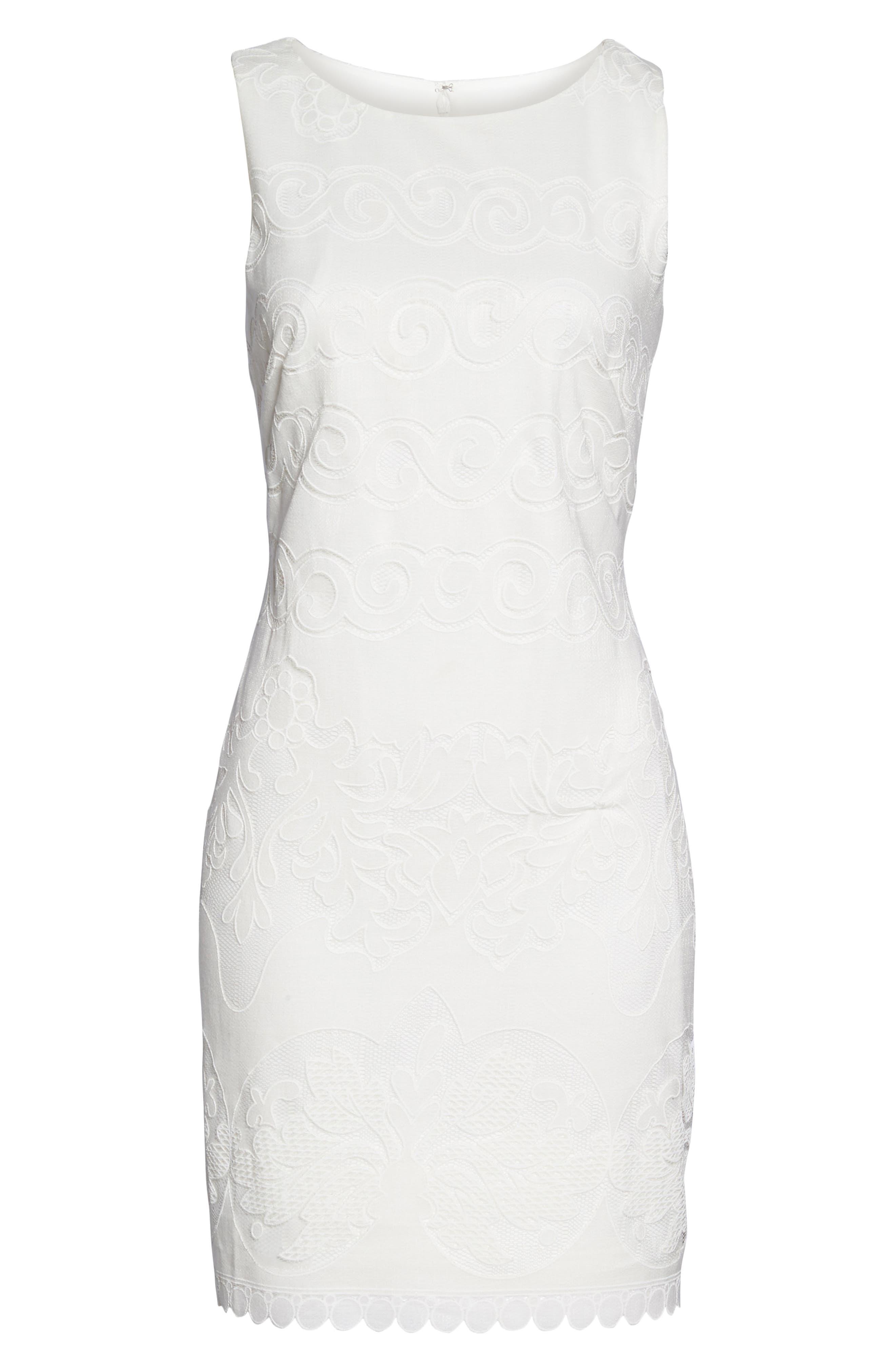 A-Line Dress,                             Alternate thumbnail 6, color,                             White