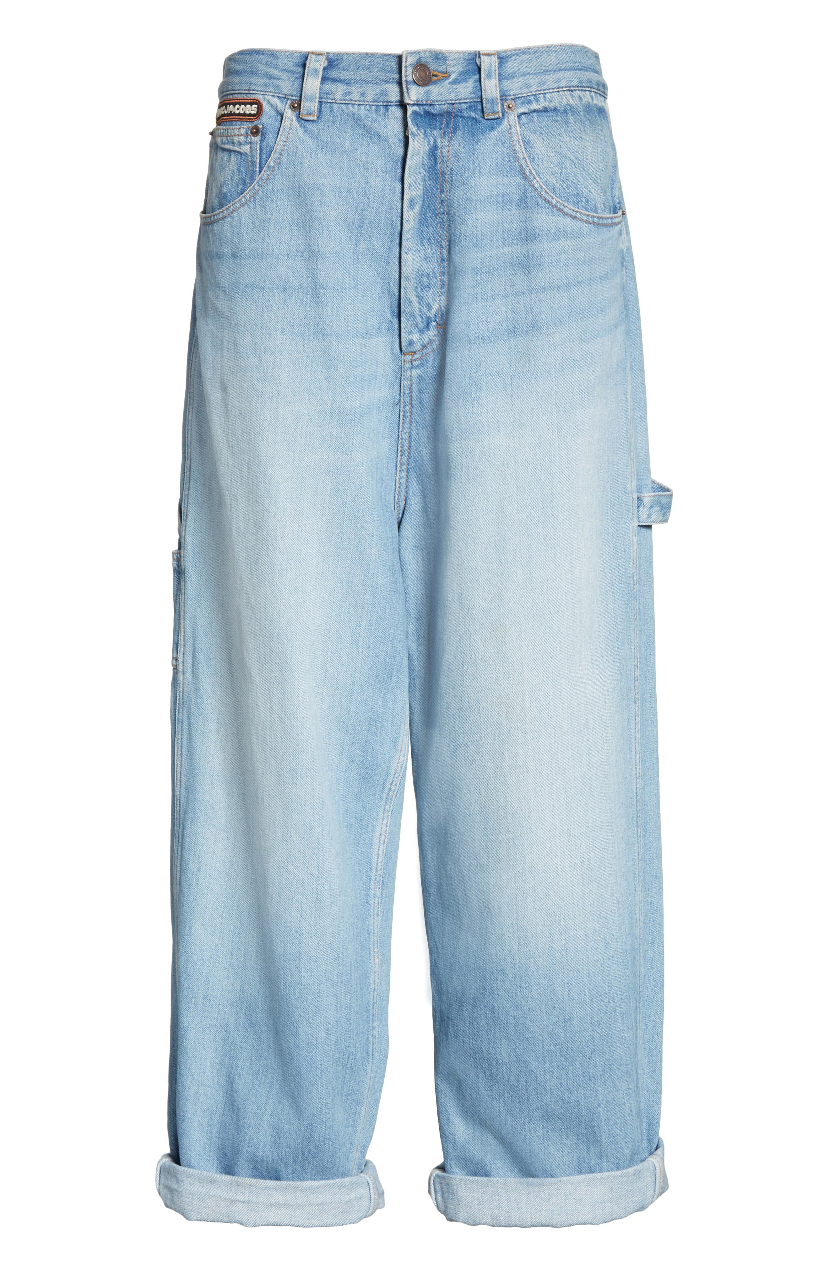 Wide Leg Carpenter Jeans,                             Alternate thumbnail 8, color,                             Vintage Indigo