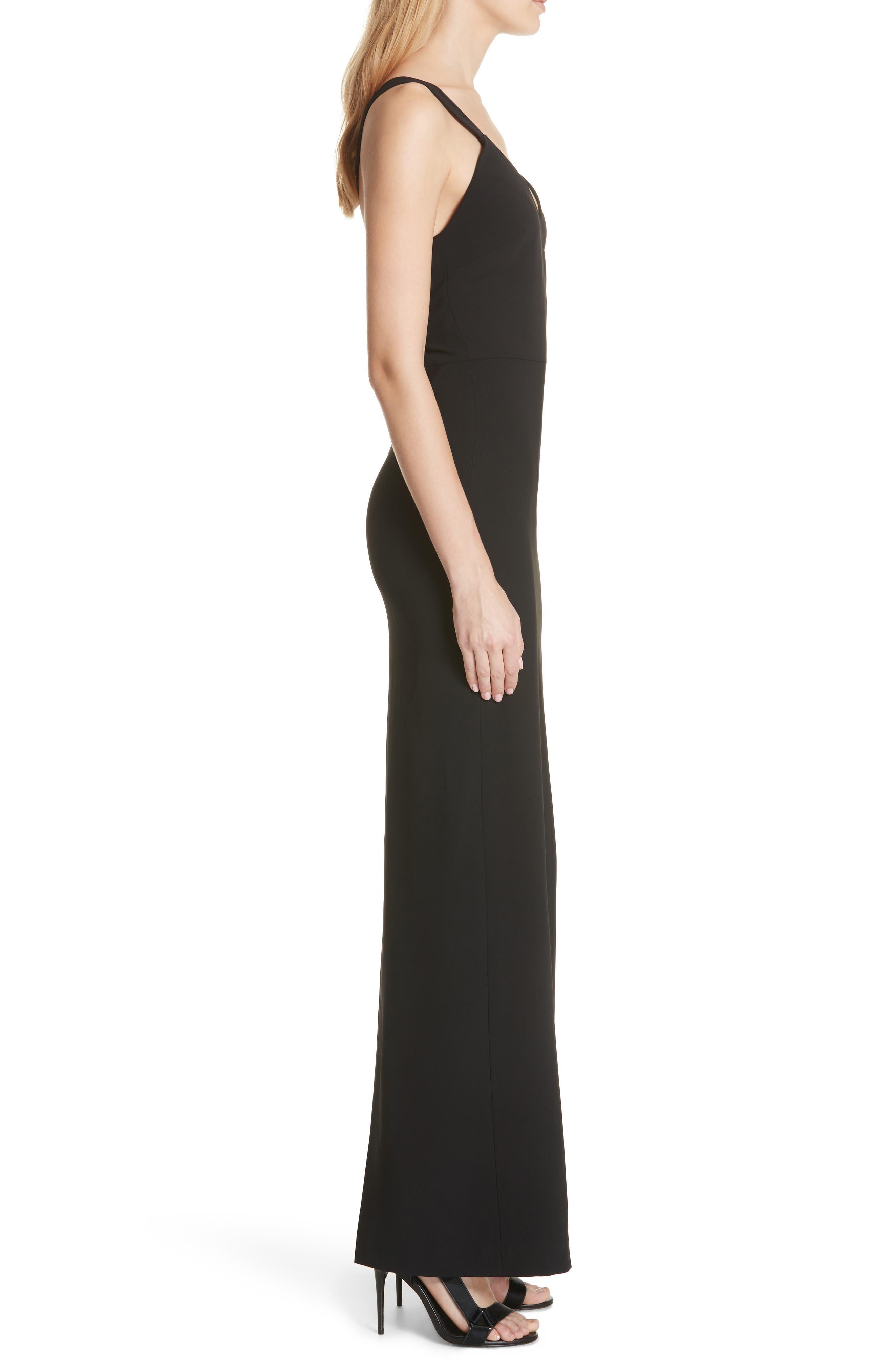Brianna Strappy Back Maxi Dress,                             Alternate thumbnail 3, color,                             Black