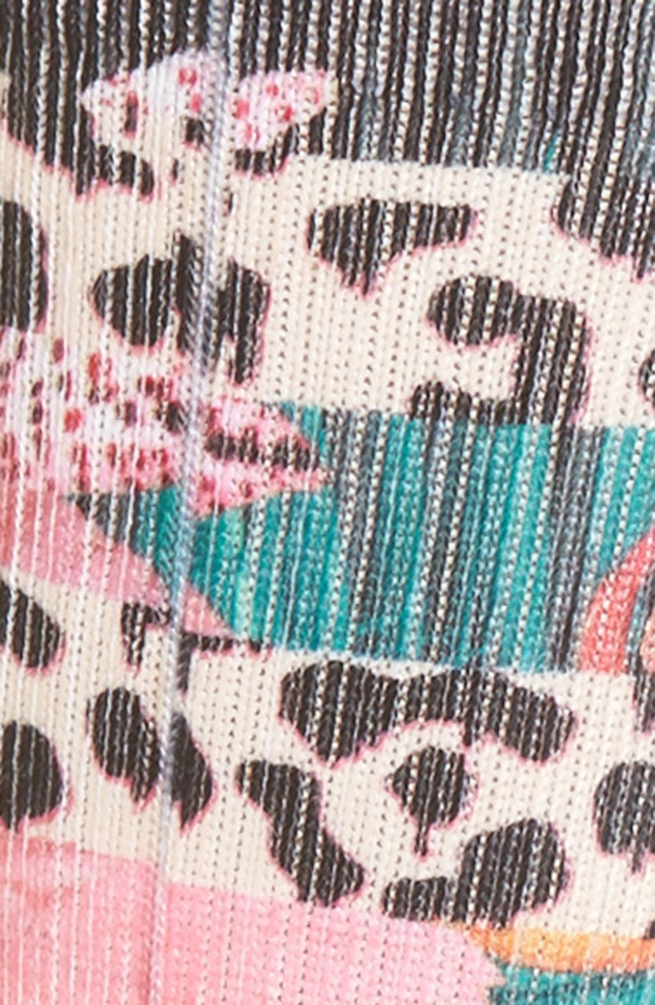 El Hibisco Crew Socks,                             Alternate thumbnail 2, color,                             Black