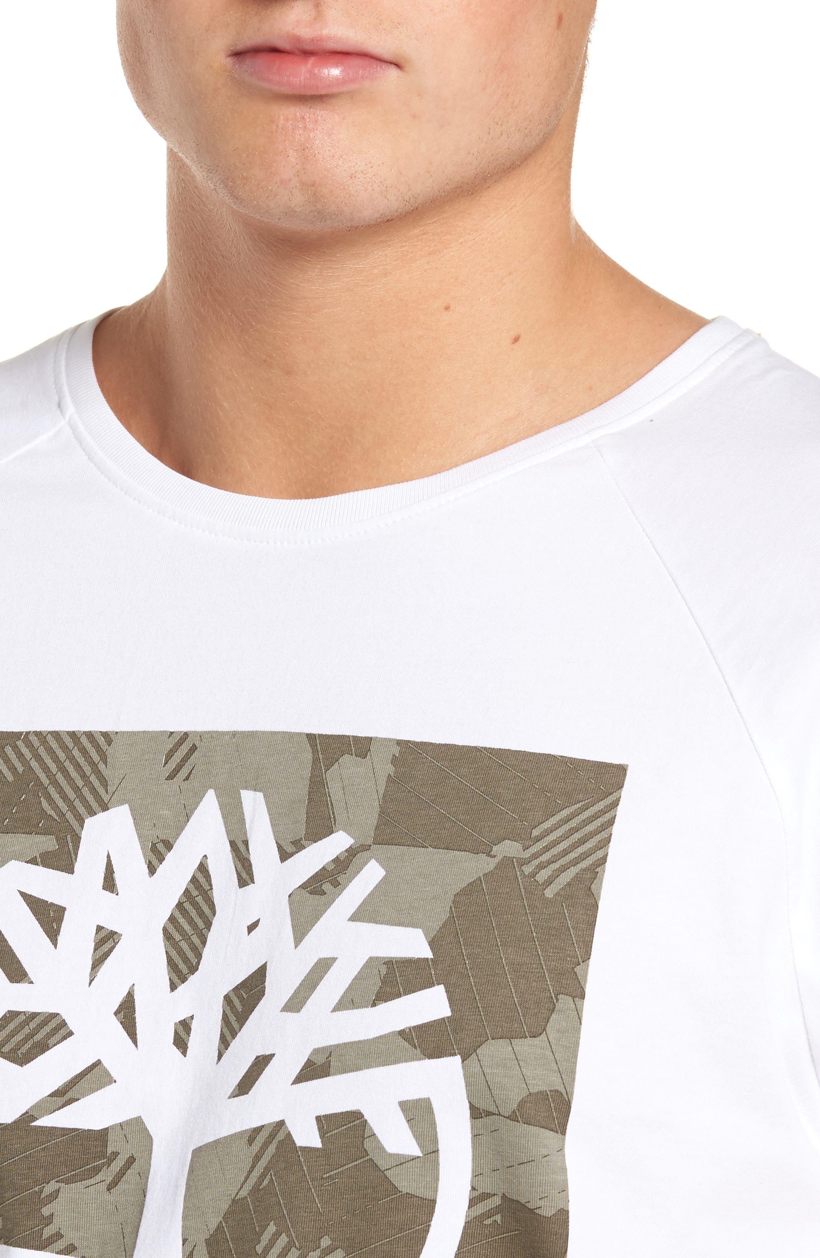 Camo Logo T-Shirt,                             Alternate thumbnail 4, color,                             White