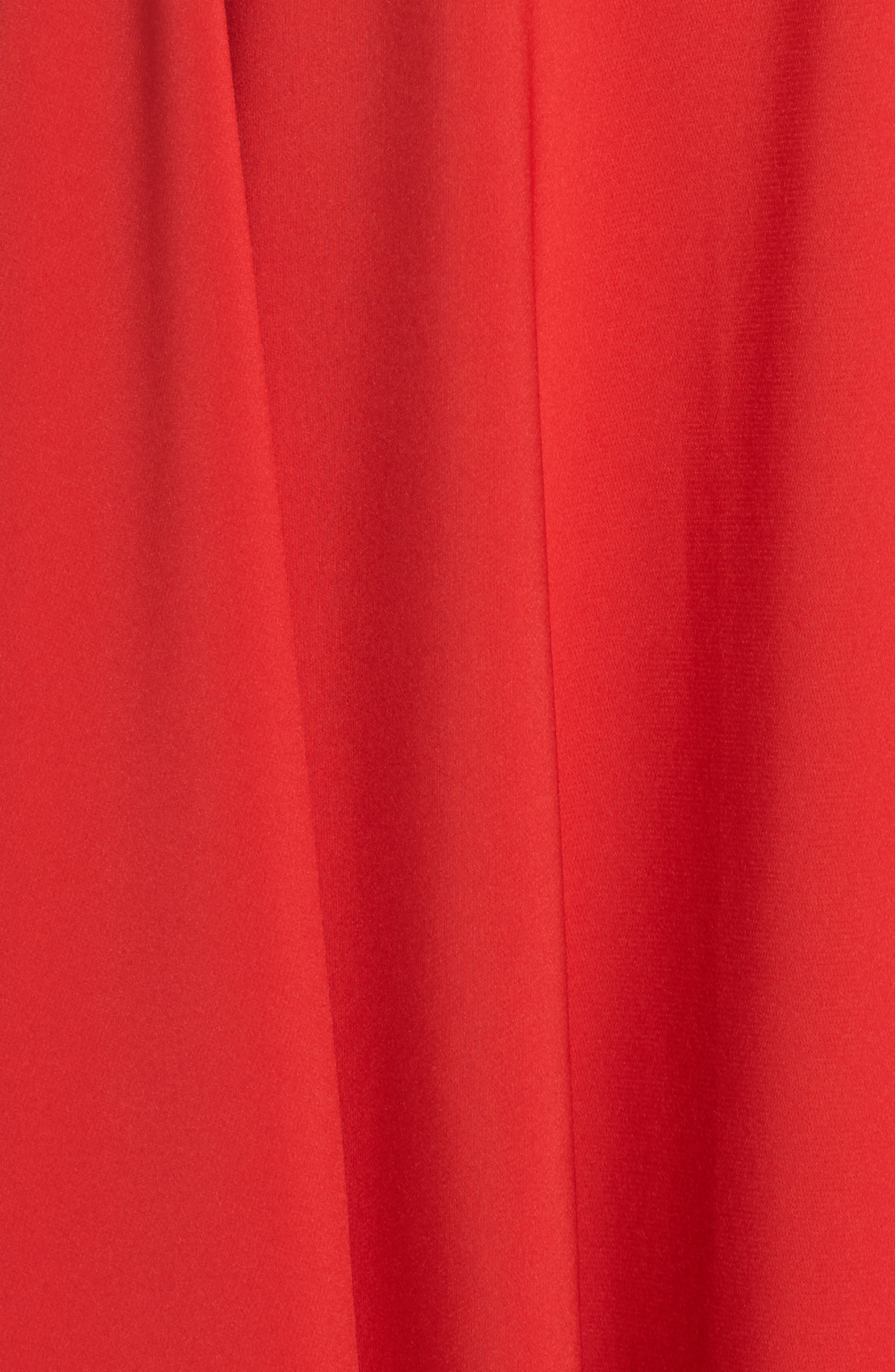 Beaded Waist Gown,                             Alternate thumbnail 5, color,                             Red