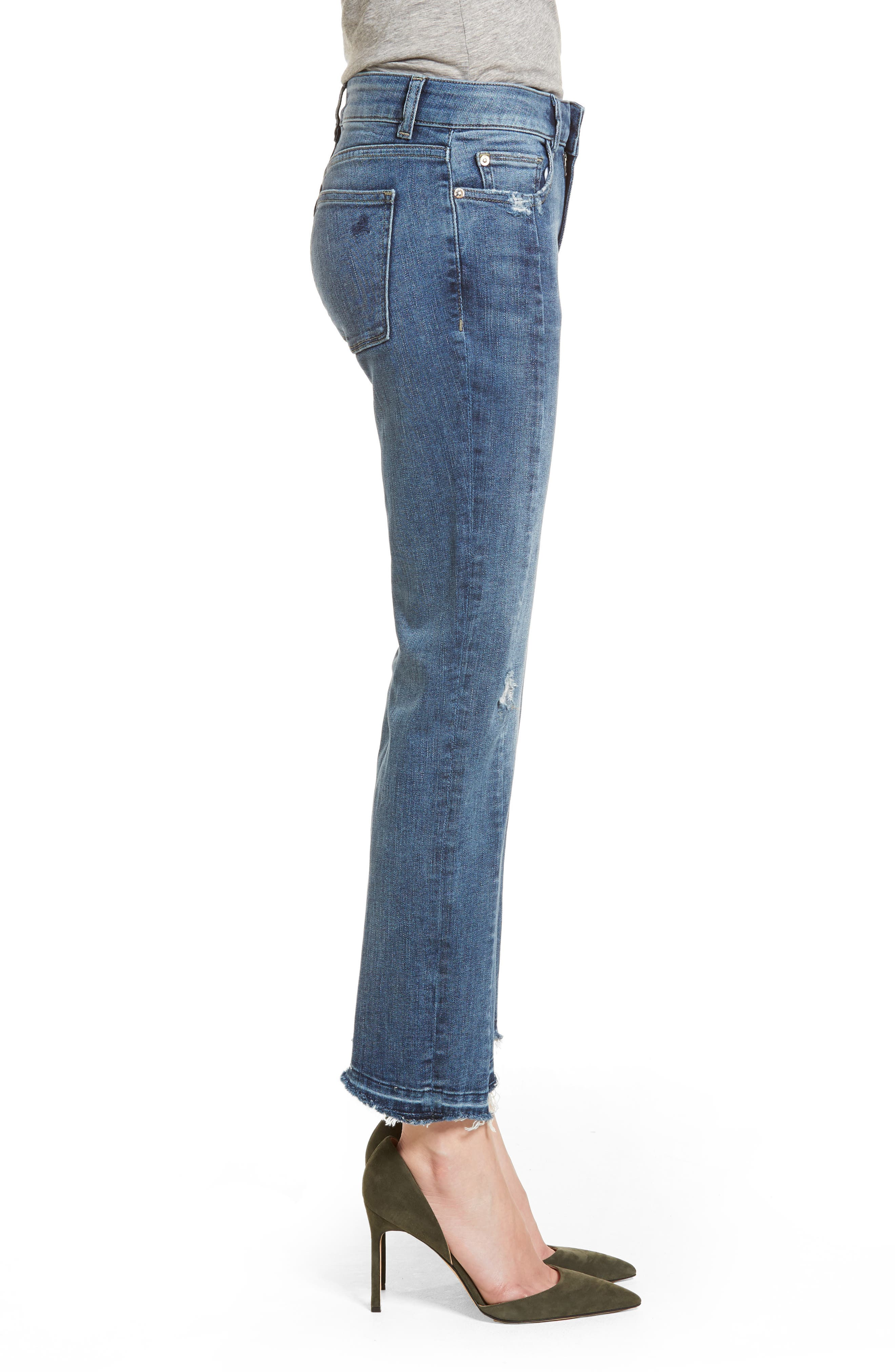 Mara Instasculpt Ankle Straight Leg Jeans,                             Alternate thumbnail 3, color,                             Castlewood