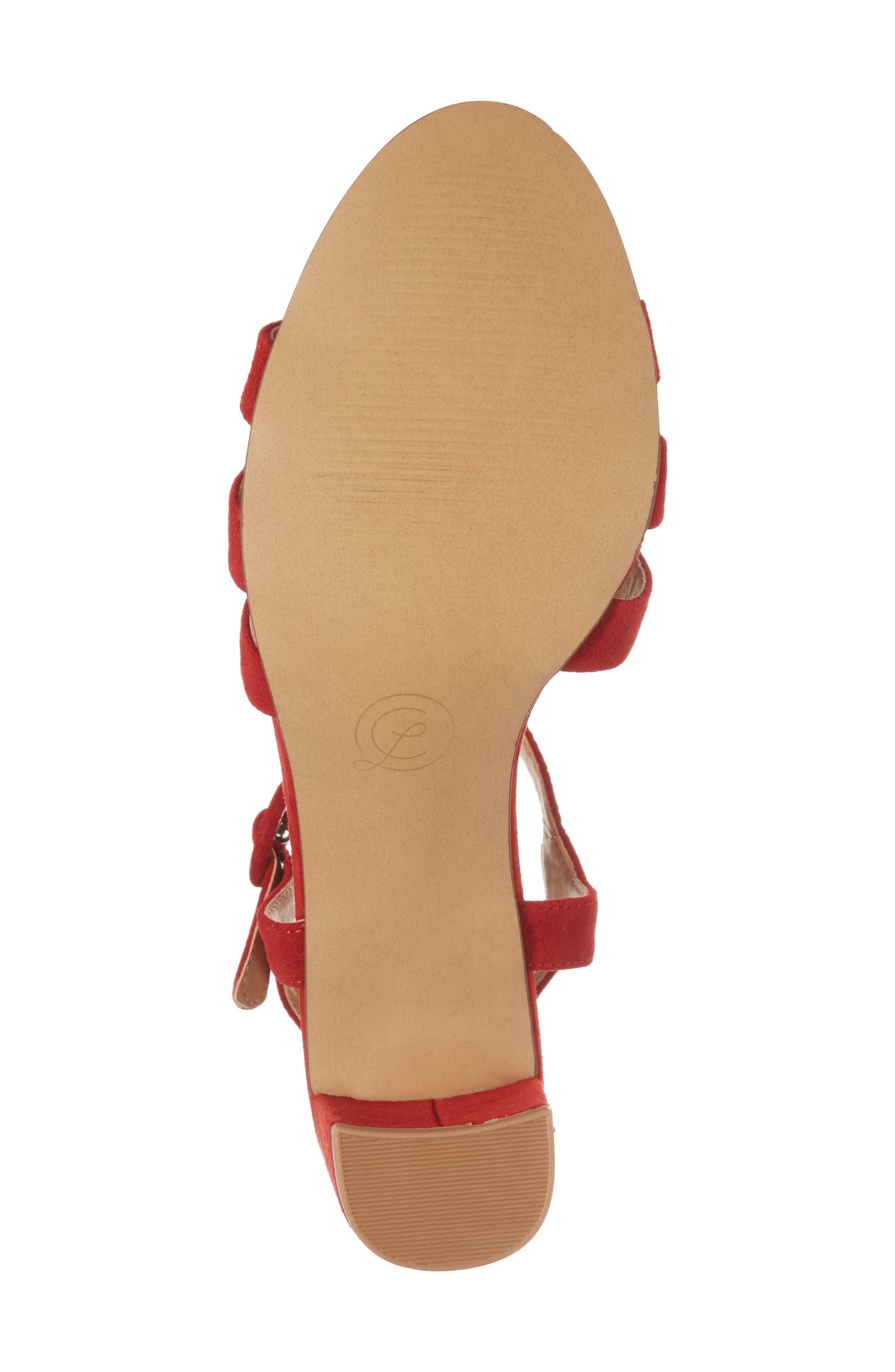 Ryden Strappy Sandal,                             Alternate thumbnail 6, color,                             Red
