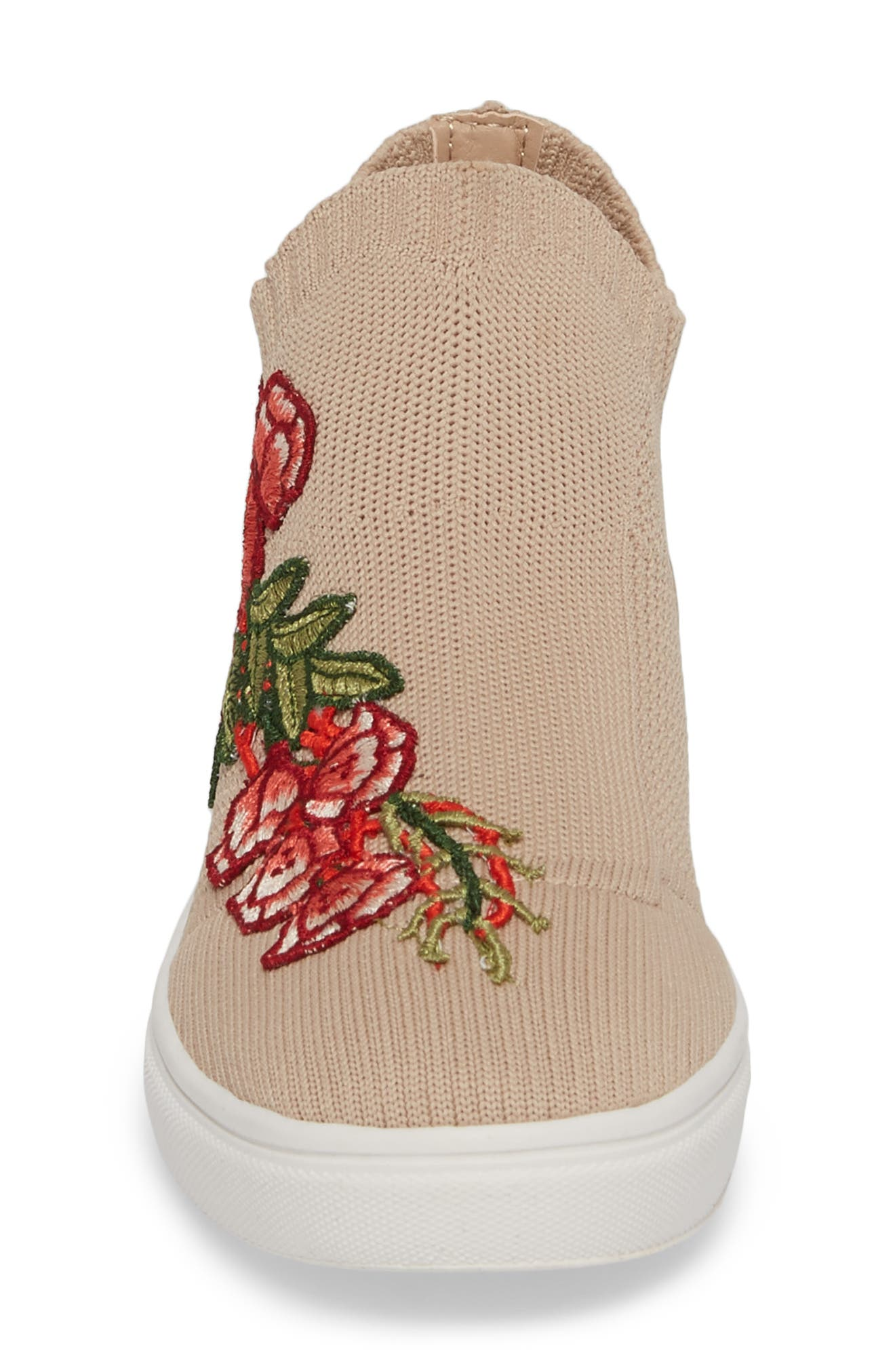 July Embroidered Knit Bootie,                             Alternate thumbnail 4, color,                             Blush