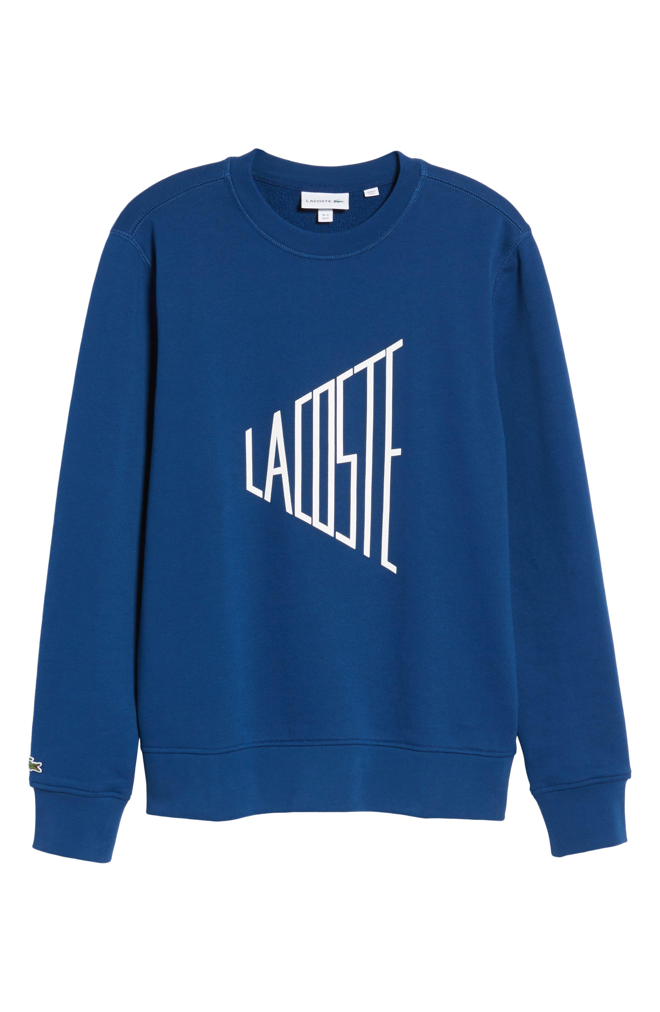 Alternate Image 6  - Lacoste Lettering Fleece Sweatshirt