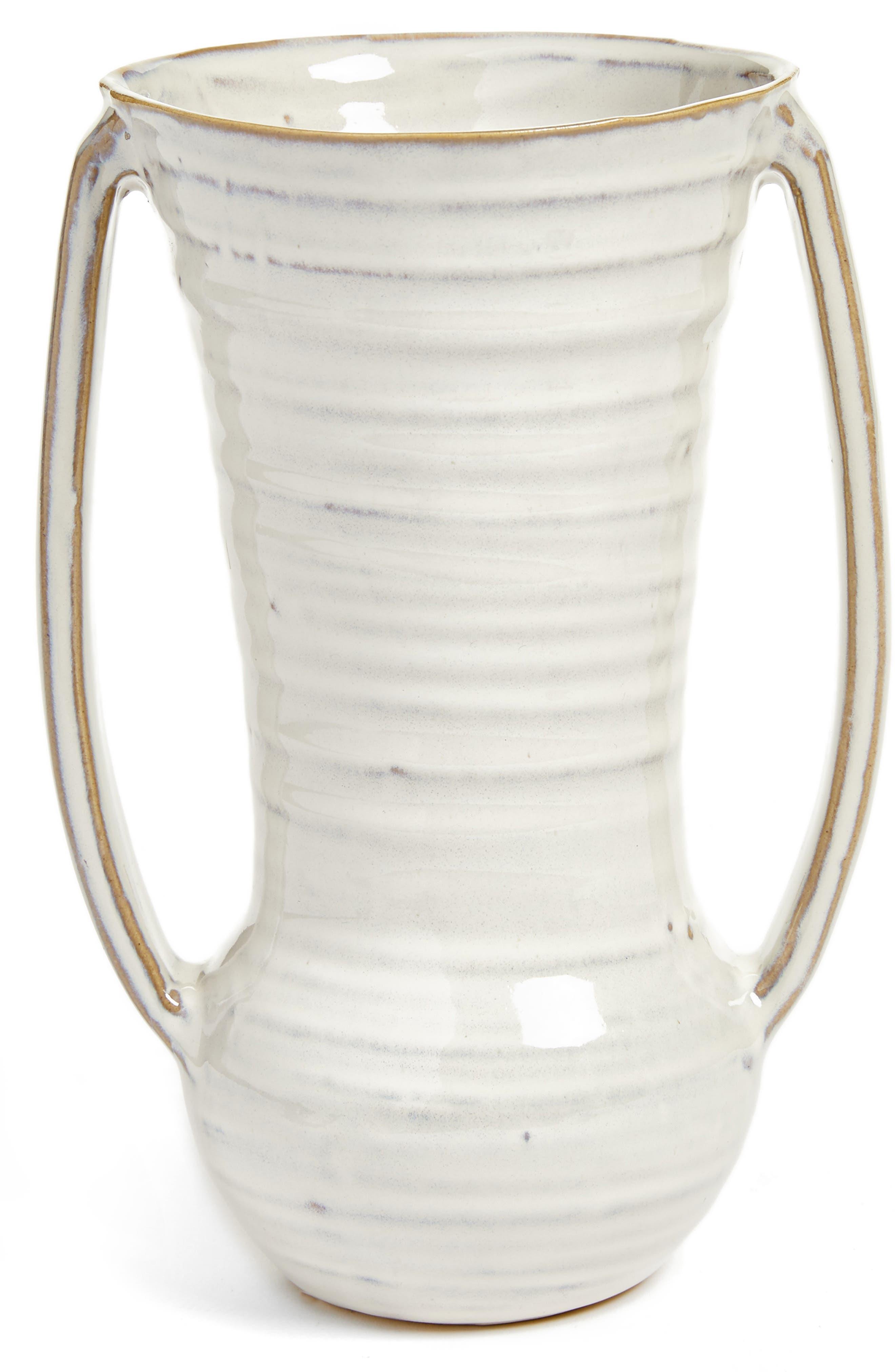 Zara Ceramic Vase,                         Main,                         color, White