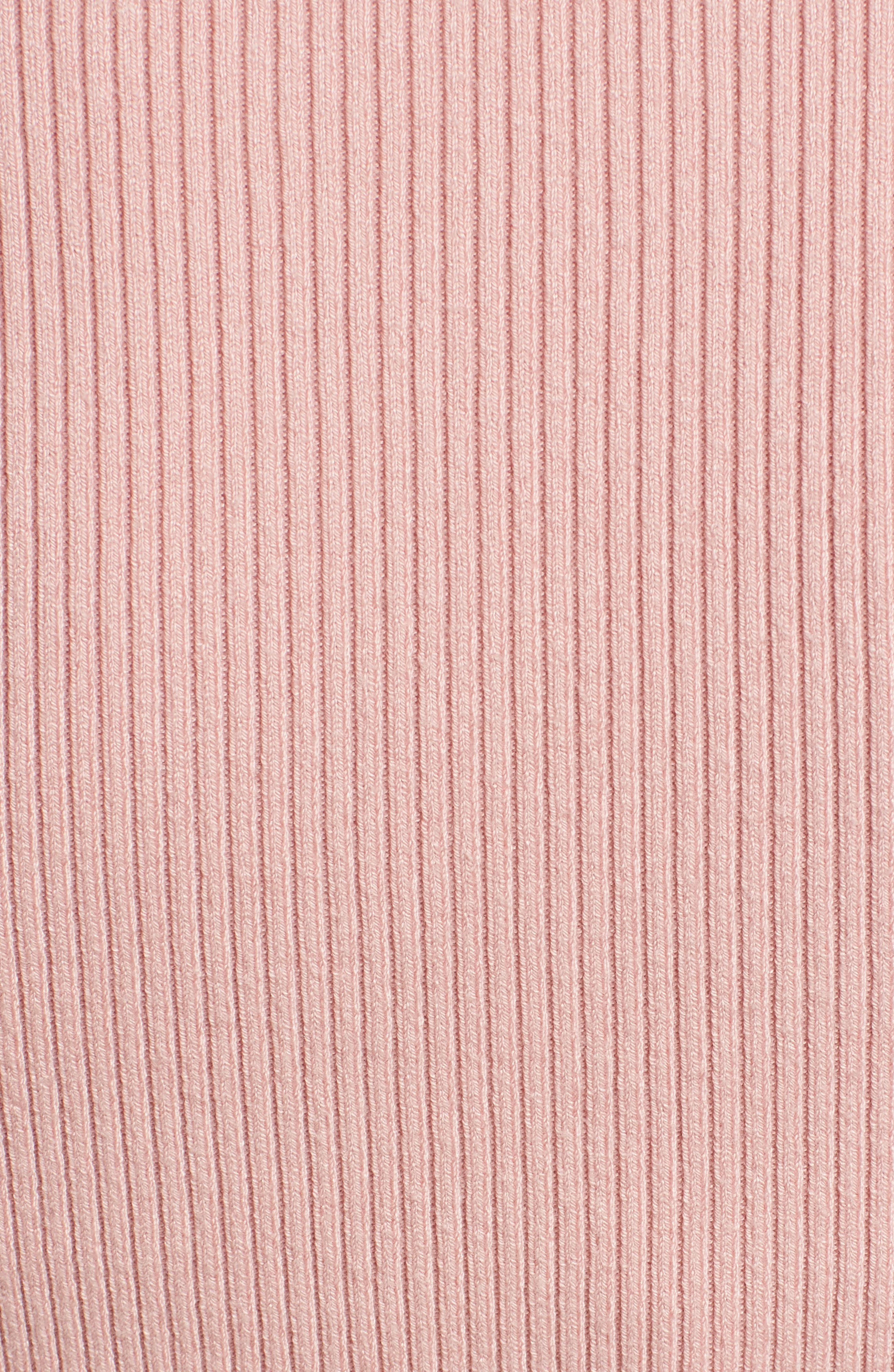 Corset Knit Sweater,                             Alternate thumbnail 5, color,                             Pink Silver