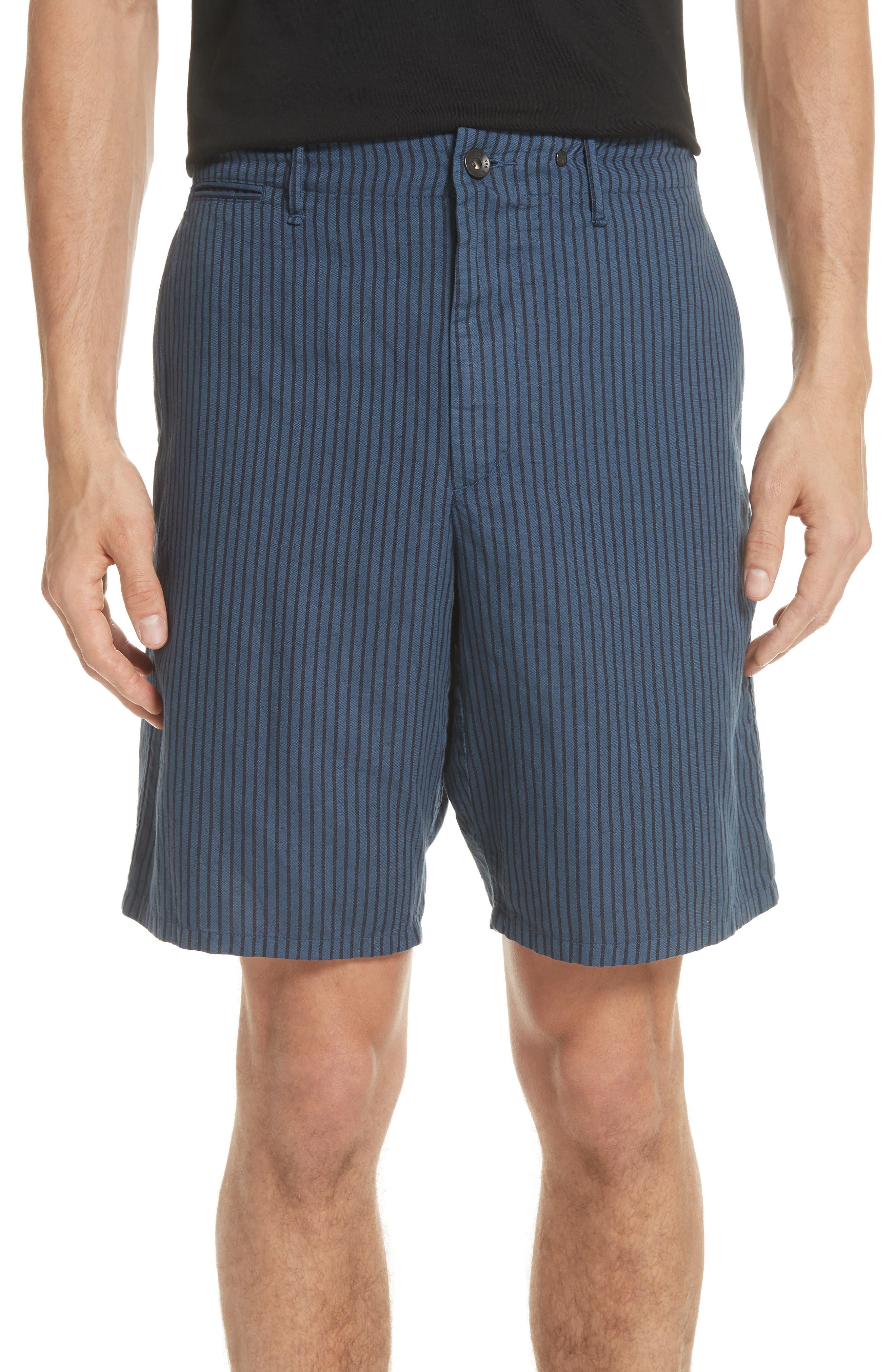 rag + bone Stripe Shorts,                             Main thumbnail 1, color,                             Navy Stripe