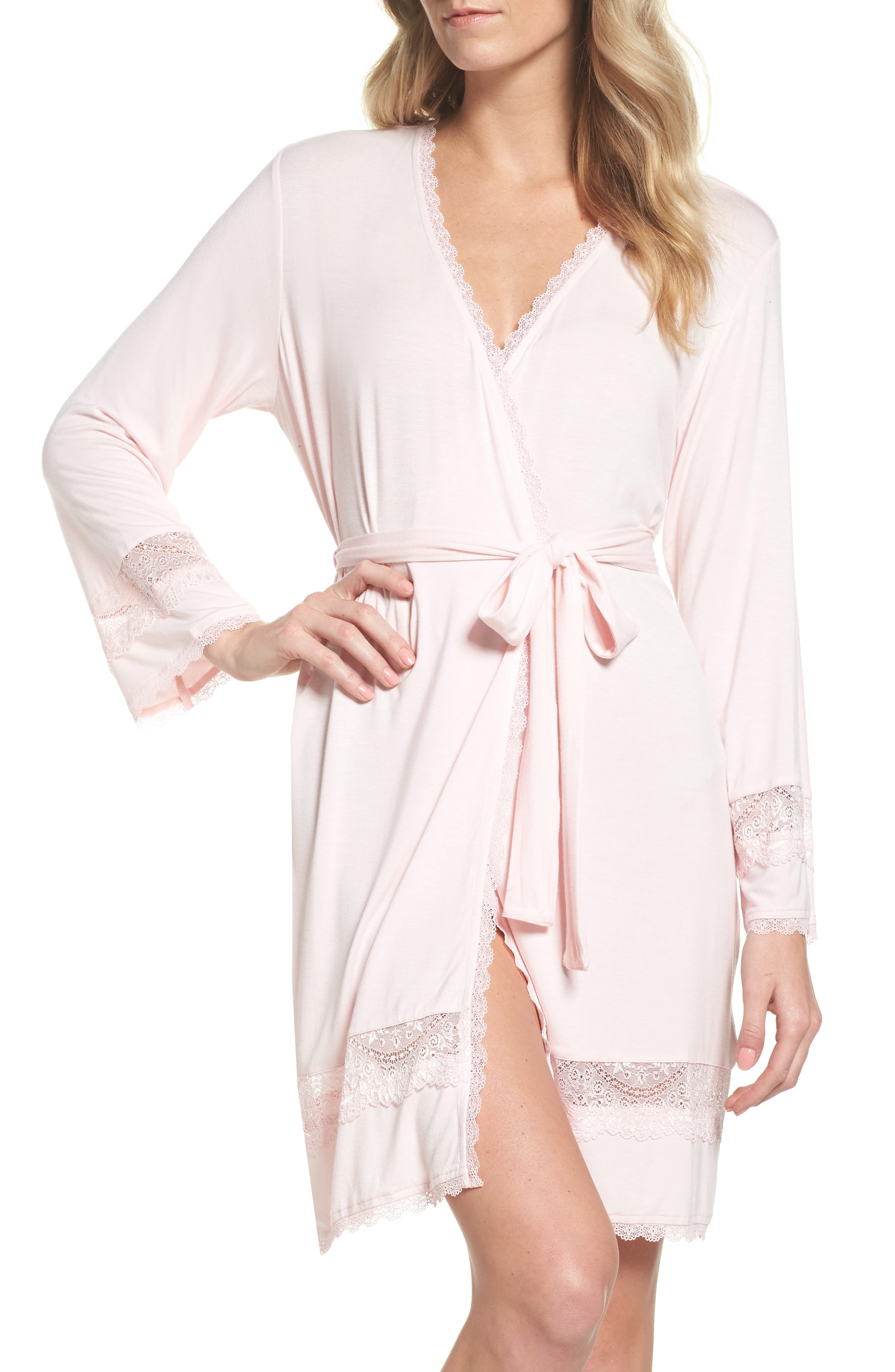 Cosima Embellished Robe,                             Main thumbnail 1, color,                             Seashell Pink