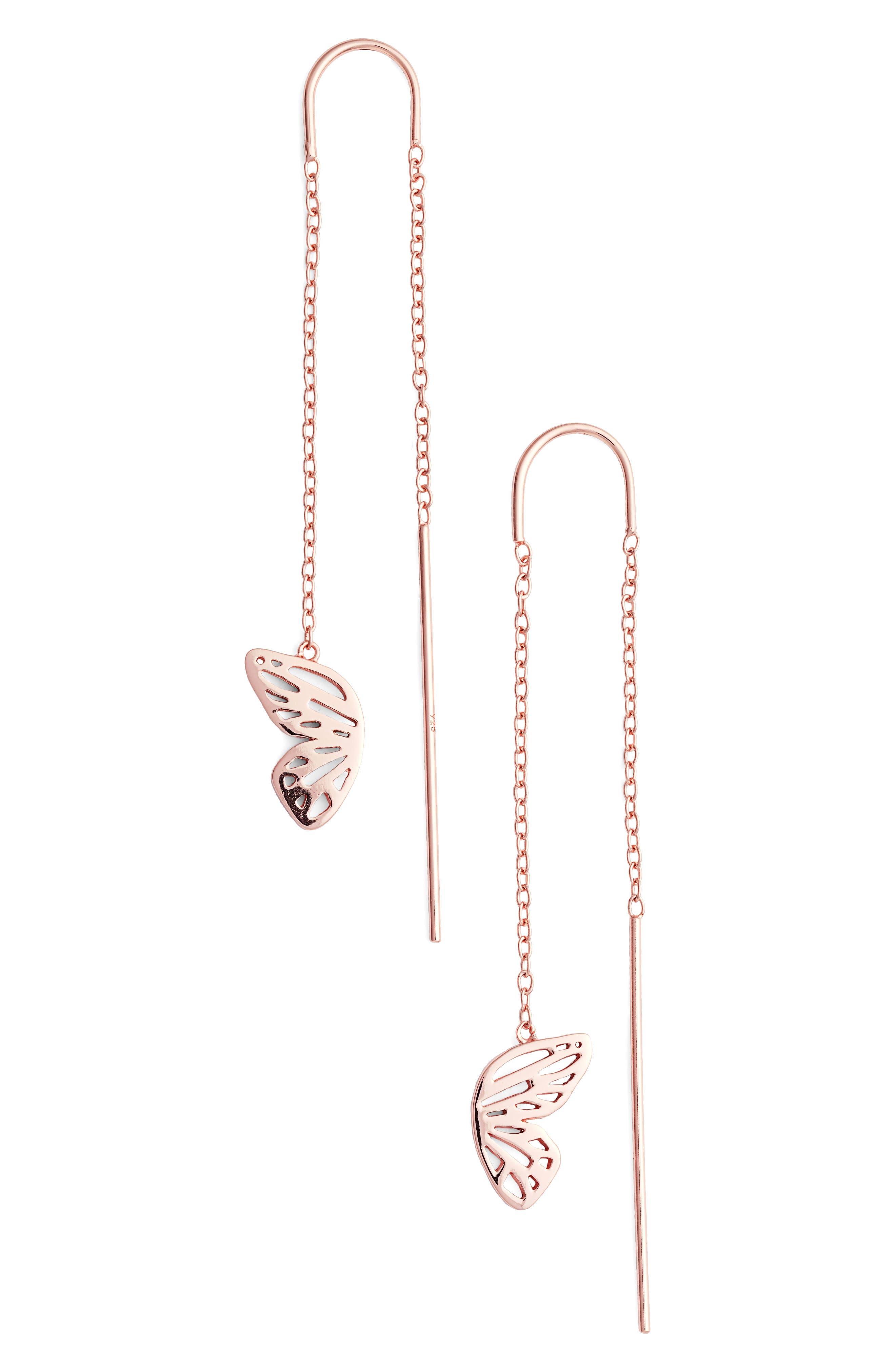 Olivia Burton Butterfly Wing Threader Earrings