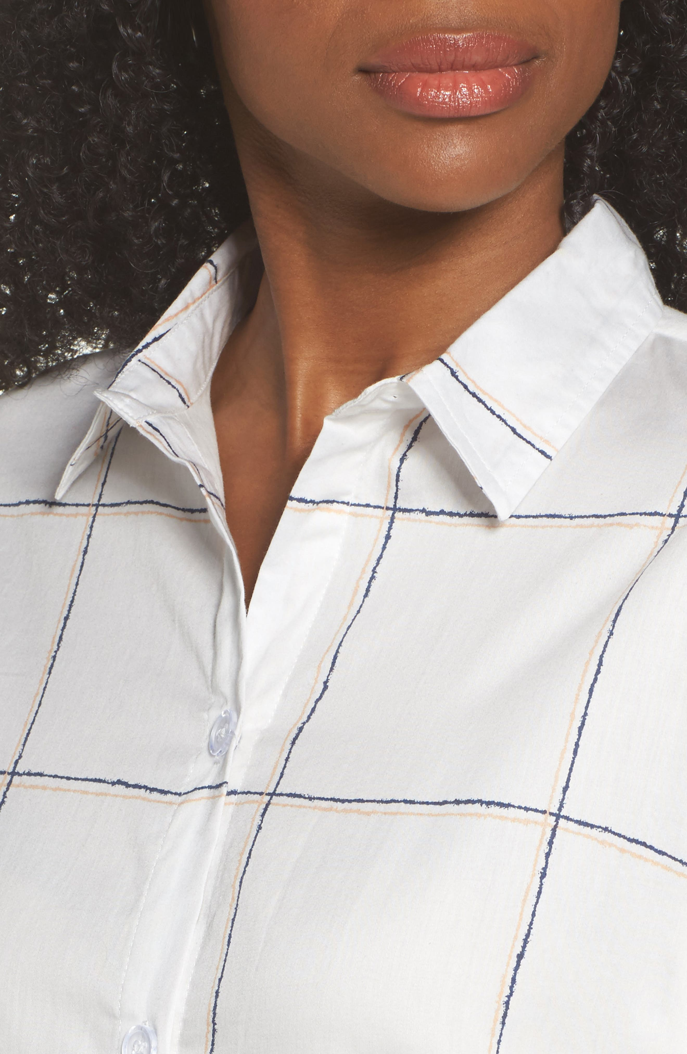 Evey Nightshirt,                             Alternate thumbnail 5, color,                             Coffee Check White