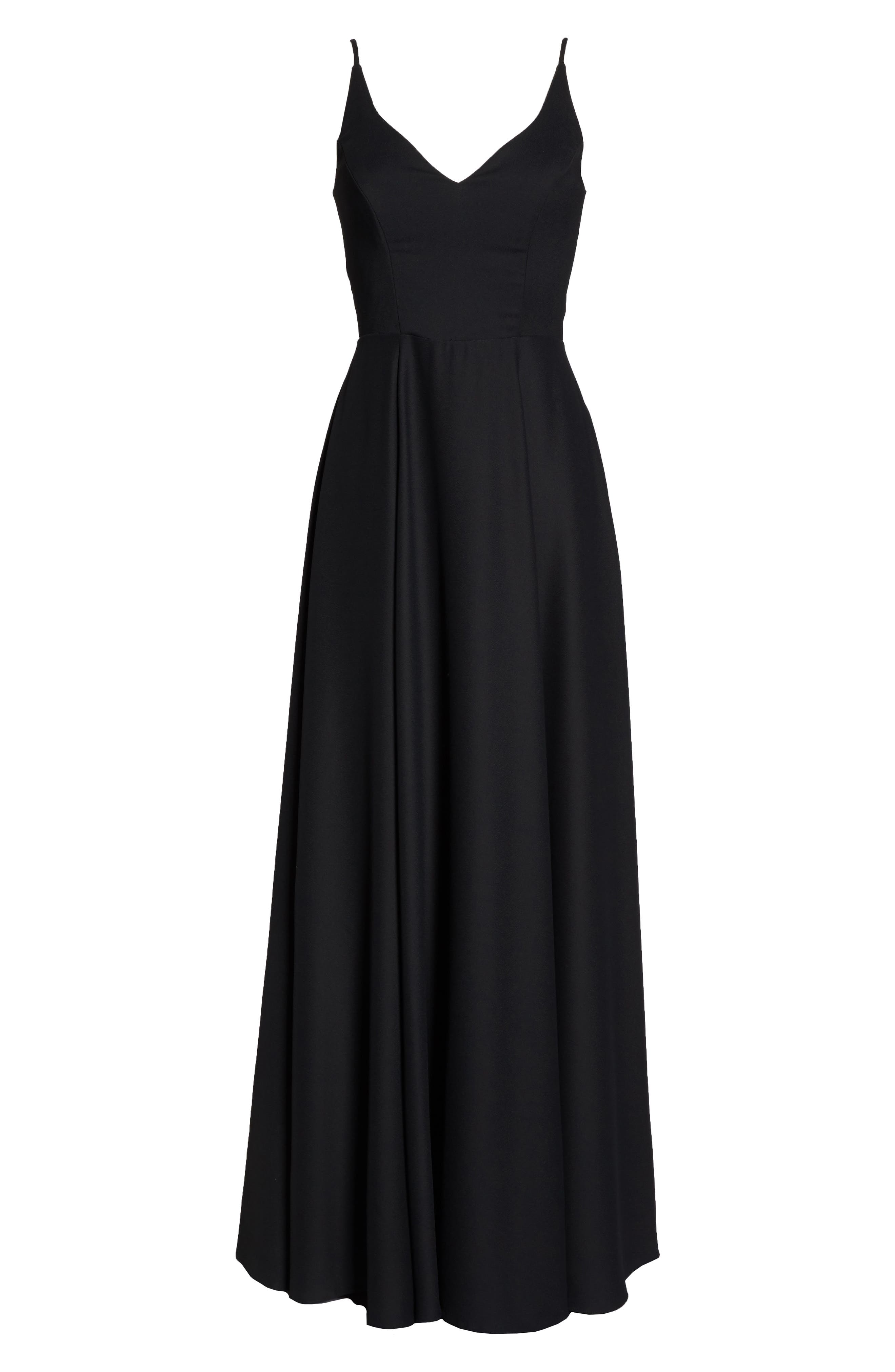 Alternate Image 6  - Hayley Paige Occasions Cutout Crepe A-Line Gown