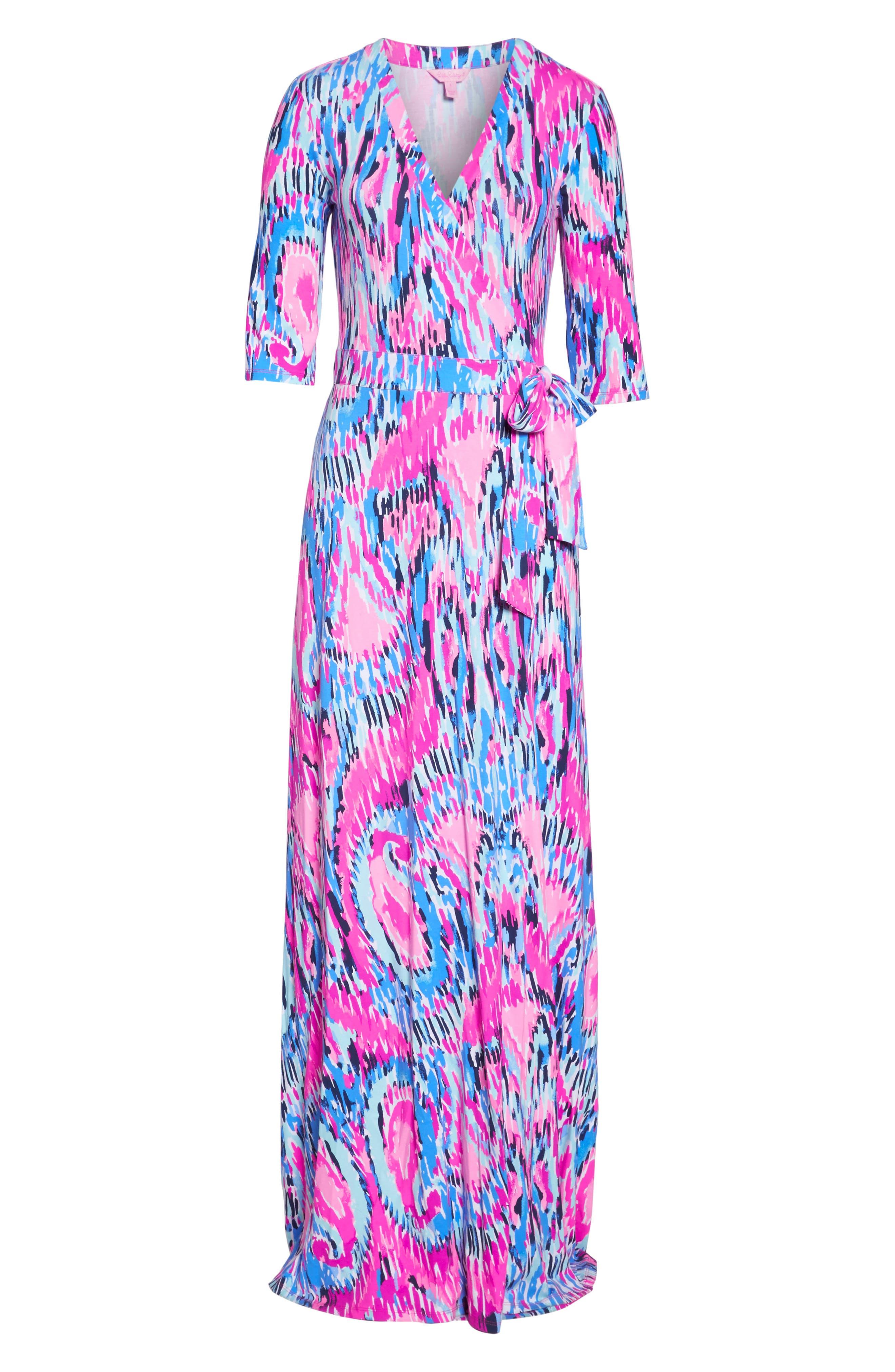 Marvista Wrap Maxi Dress,                             Alternate thumbnail 6, color,                             Multi Free Spirit