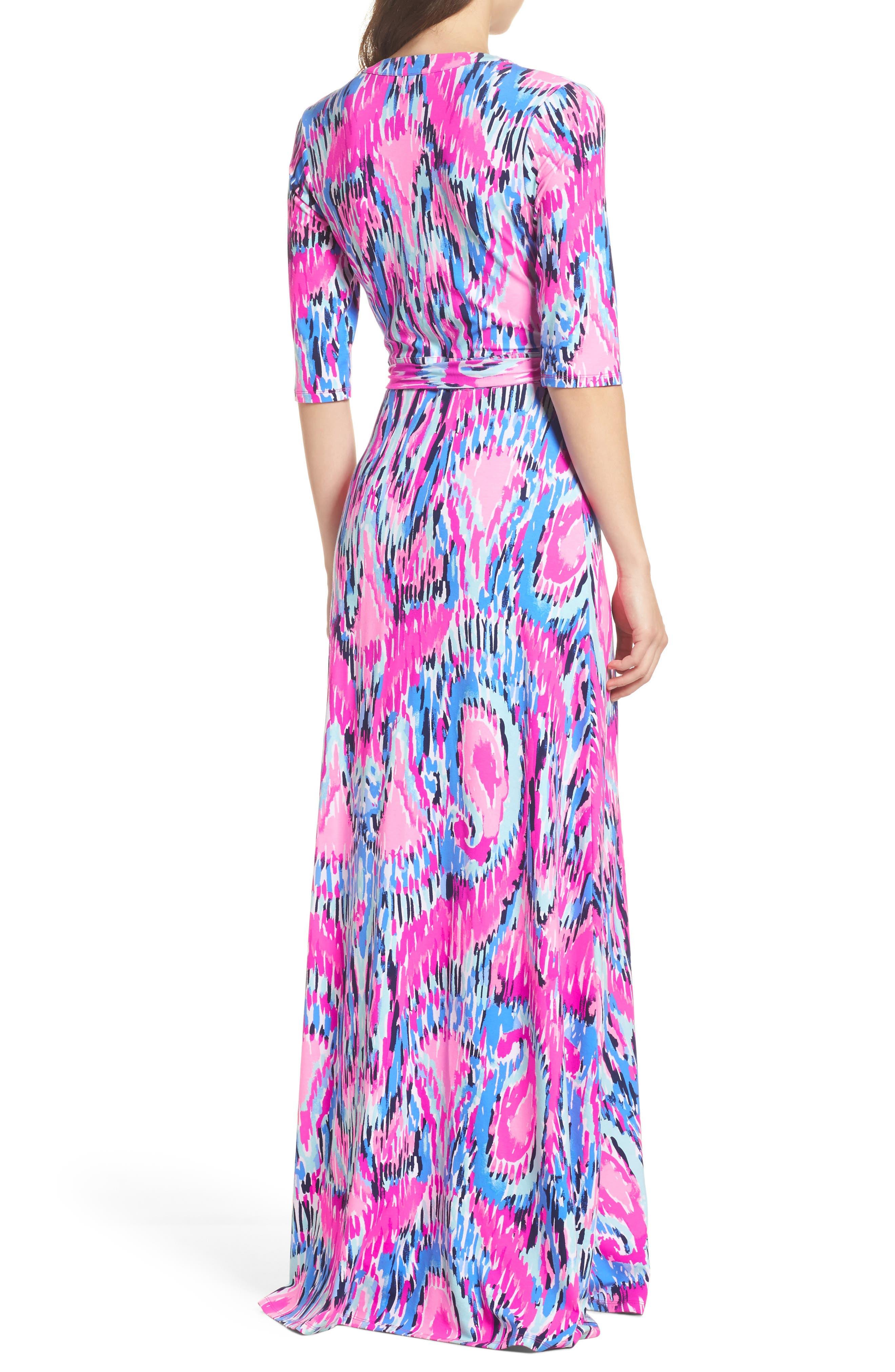 Marvista Wrap Maxi Dress,                             Alternate thumbnail 2, color,                             Multi Free Spirit