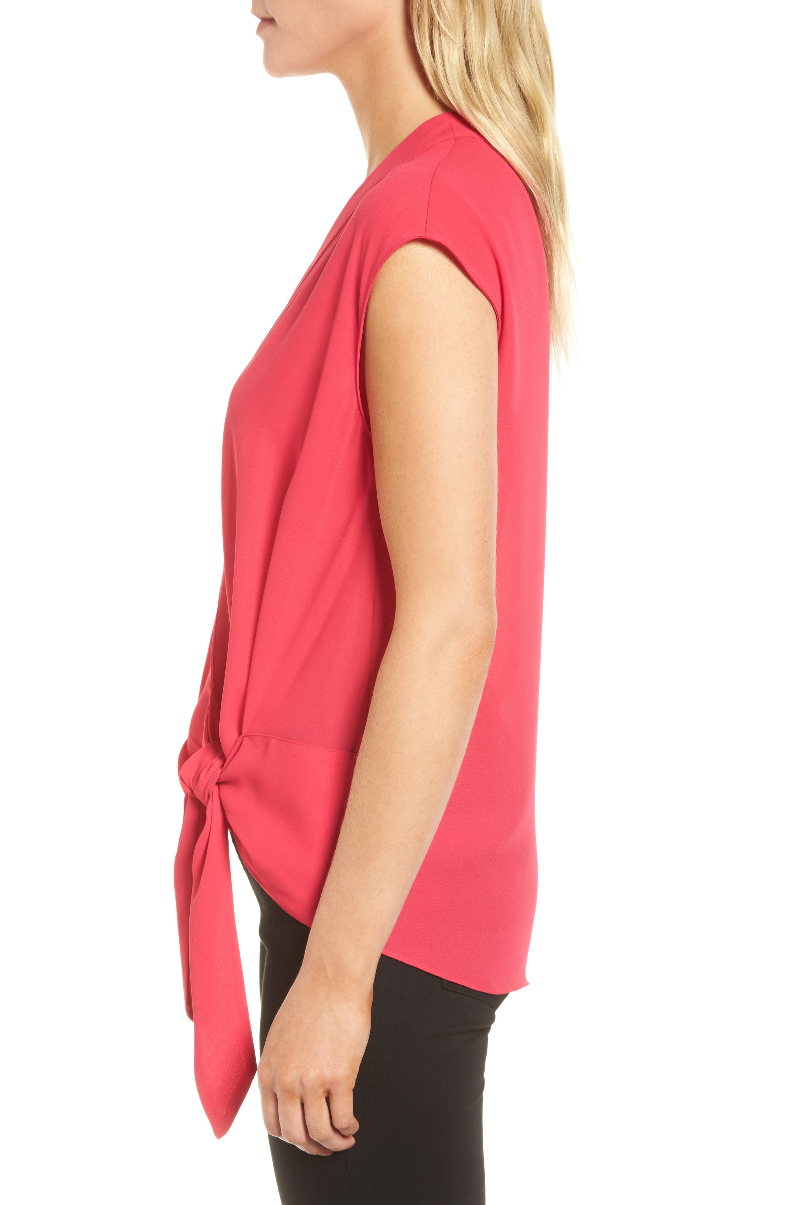 Wrap Top,                             Alternate thumbnail 3, color,                             Pink Bright