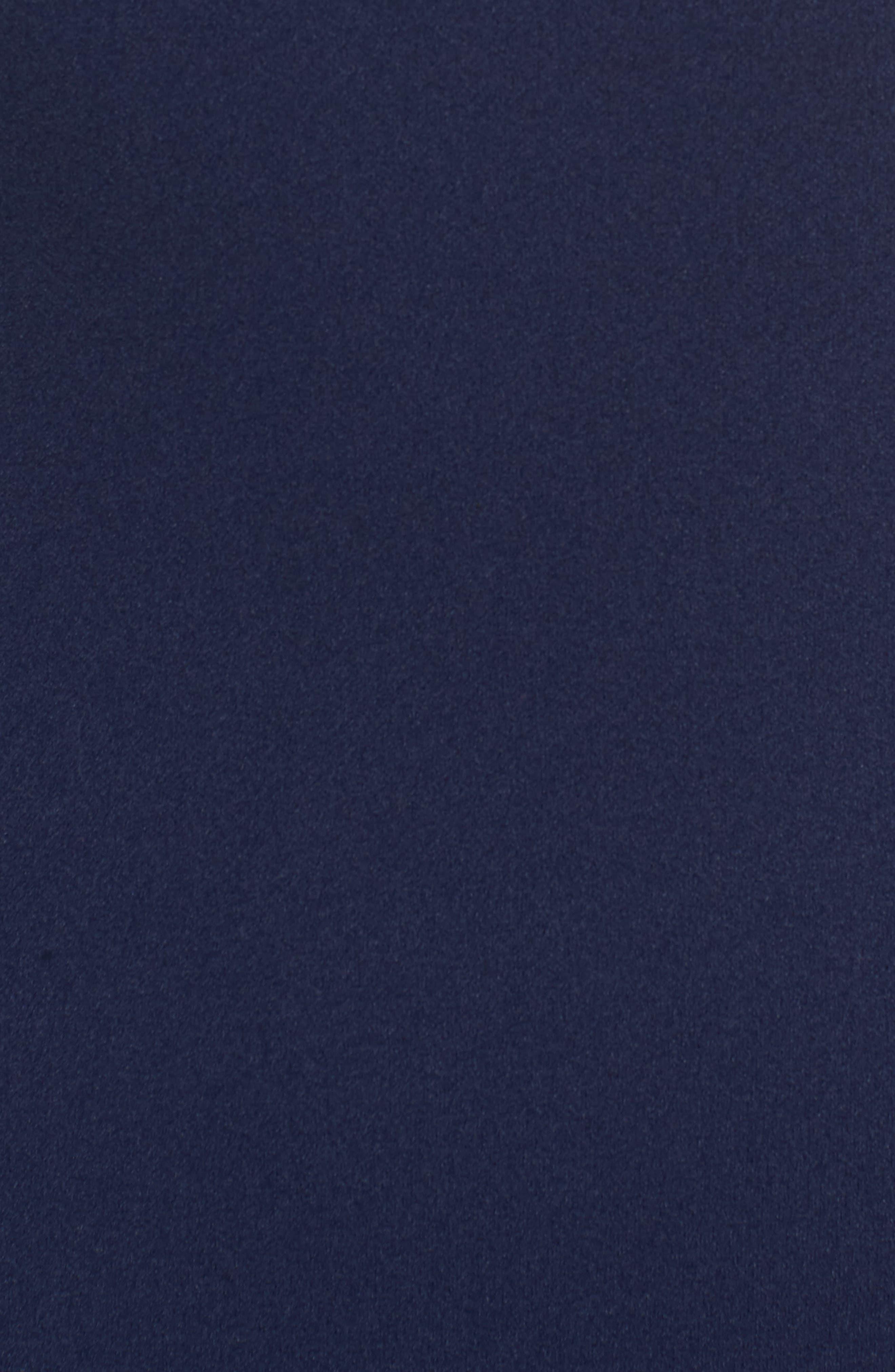 Open Back Sheath Dress,                             Alternate thumbnail 5, color,                             Navy