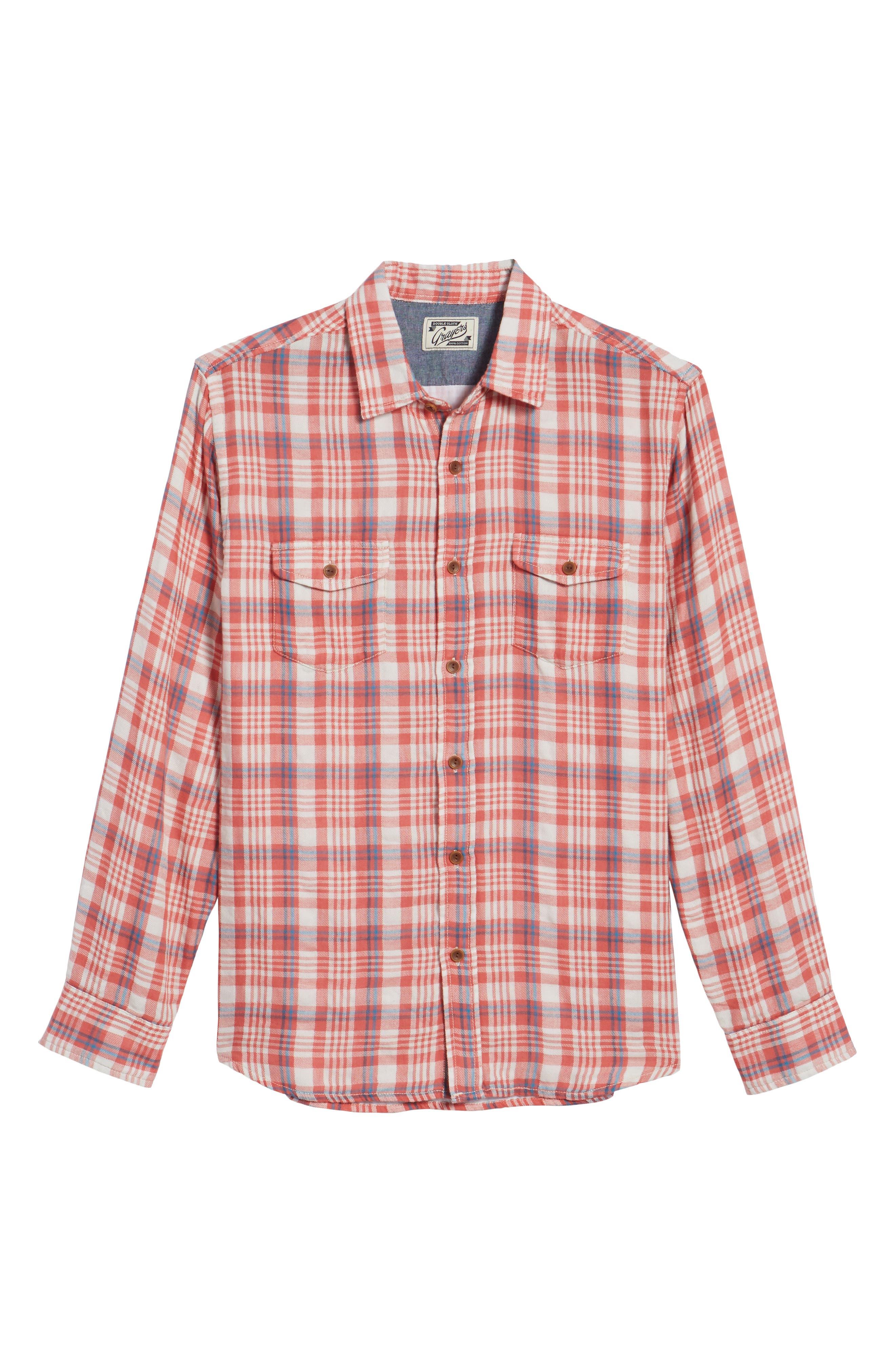 Alternate Image 6  - Grayers Barnard Slim Fit Plaid Sport Shirt