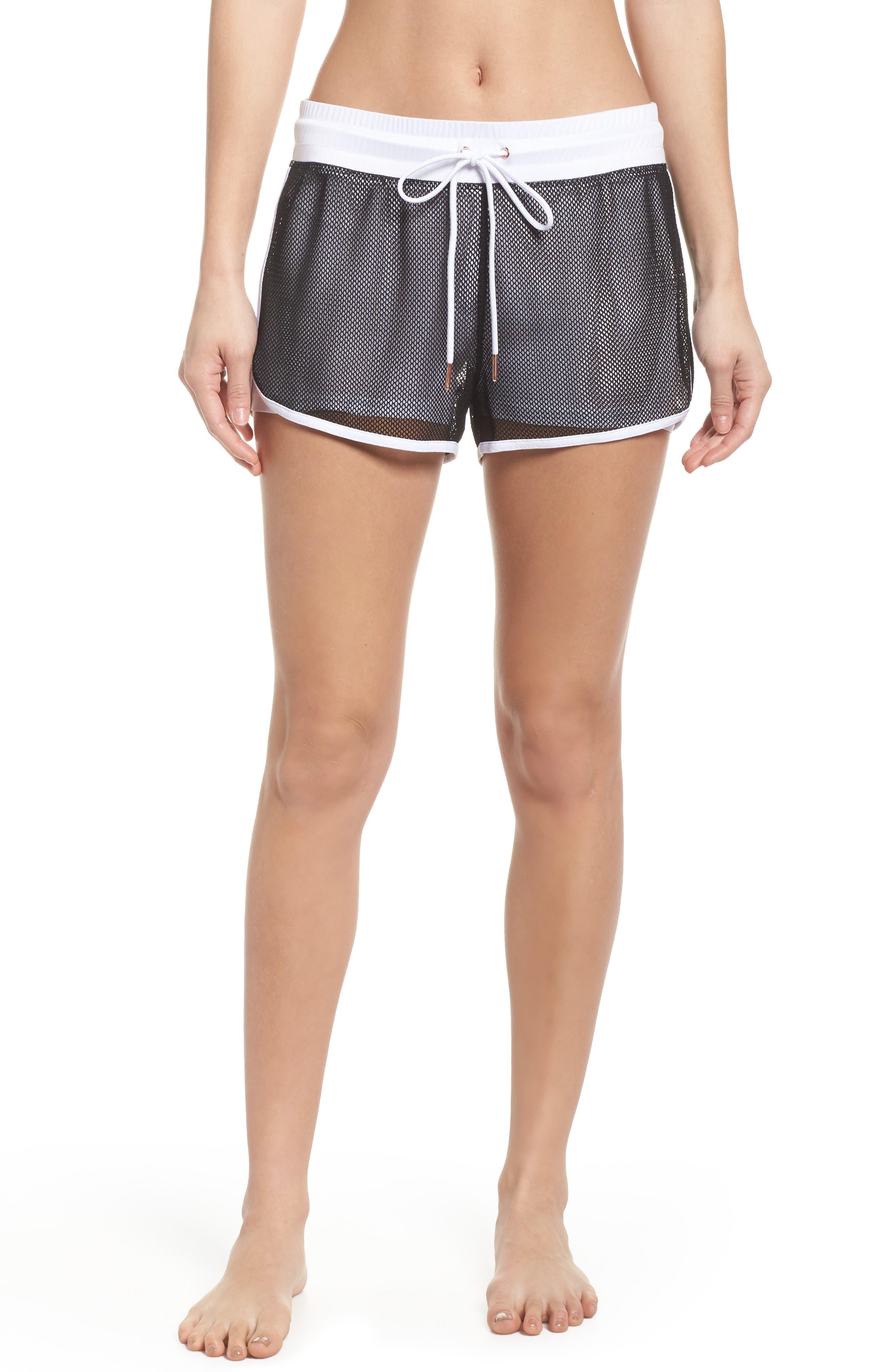 Mesh 2-in-1 Mesh Shorts,                             Main thumbnail 1, color,                             White