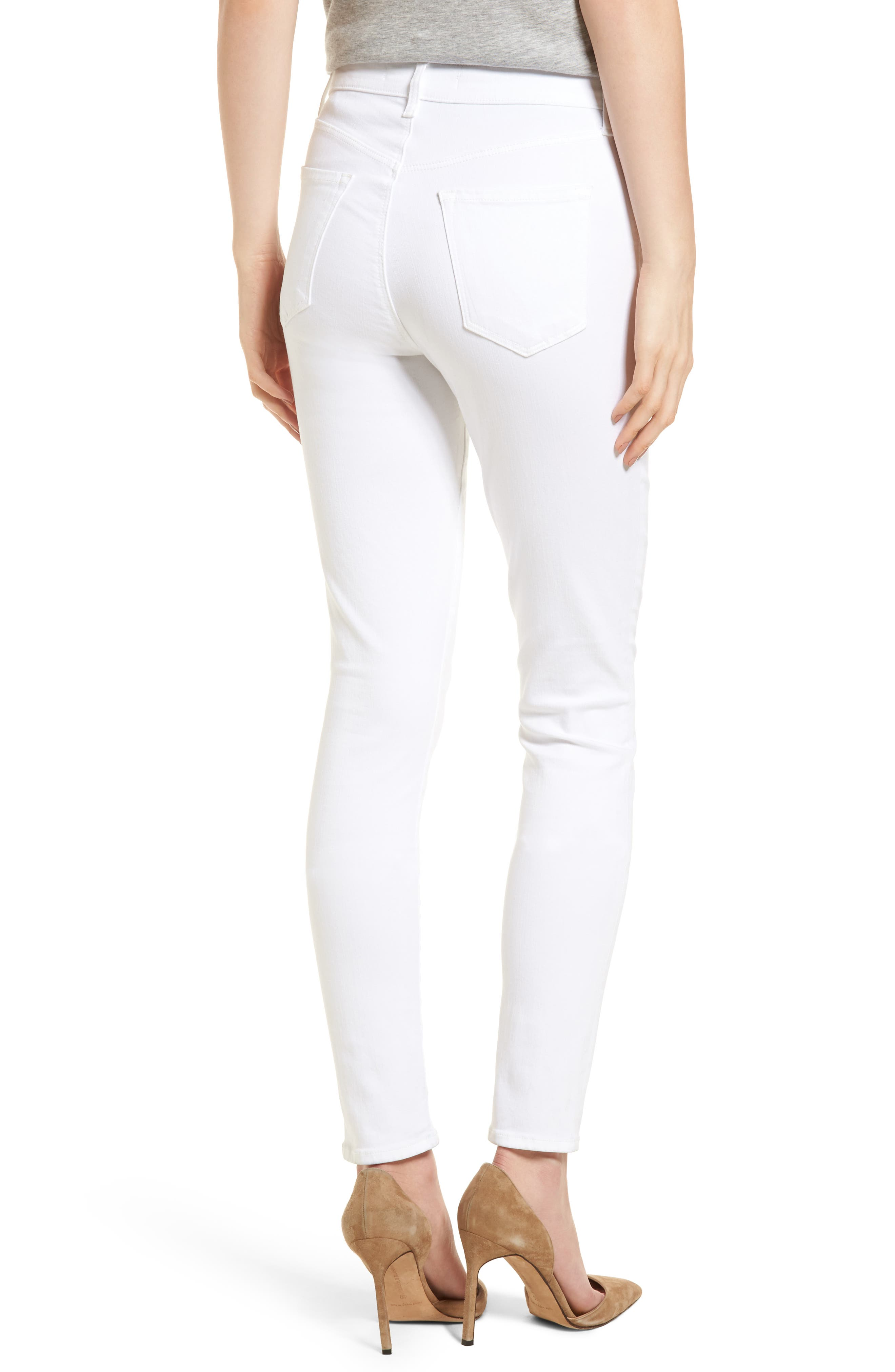 Maria High Waist Skinny Jeans,                             Alternate thumbnail 2, color,                             White