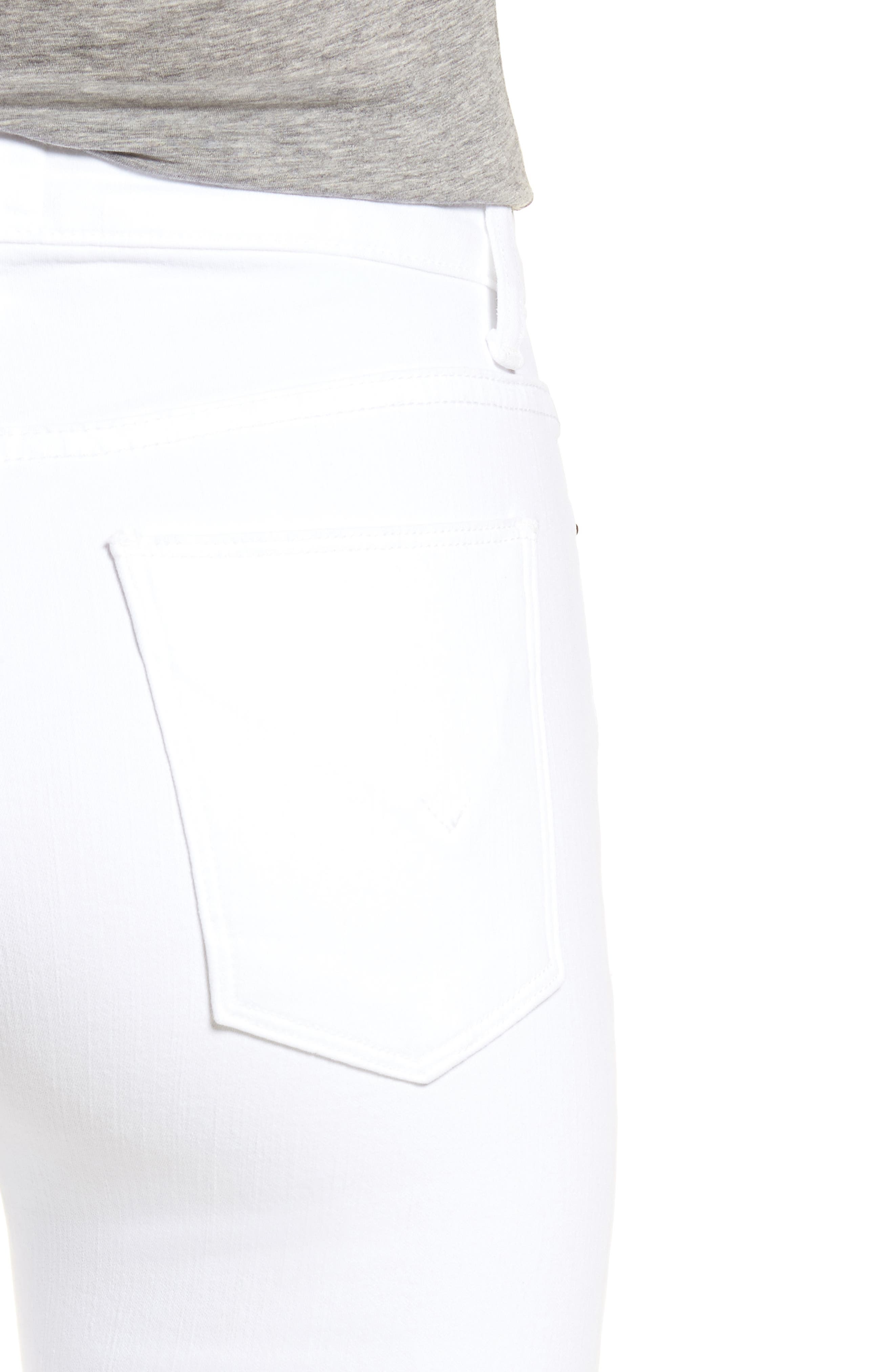 Holly High Waist Flare Jeans,                             Alternate thumbnail 4, color,                             Optical White